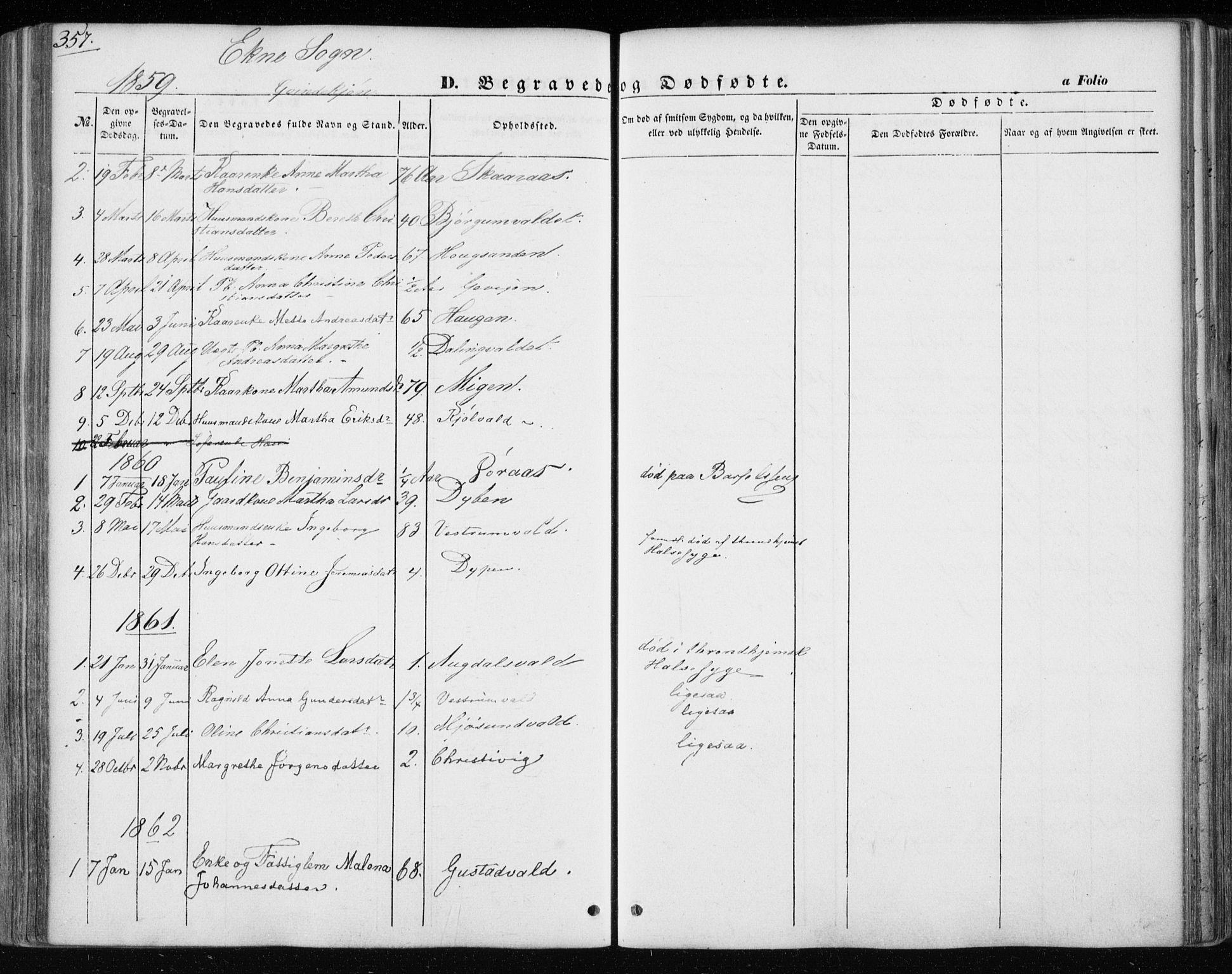 SAT, Ministerialprotokoller, klokkerbøker og fødselsregistre - Nord-Trøndelag, 717/L0154: Ministerialbok nr. 717A07 /3, 1850-1862, s. 357
