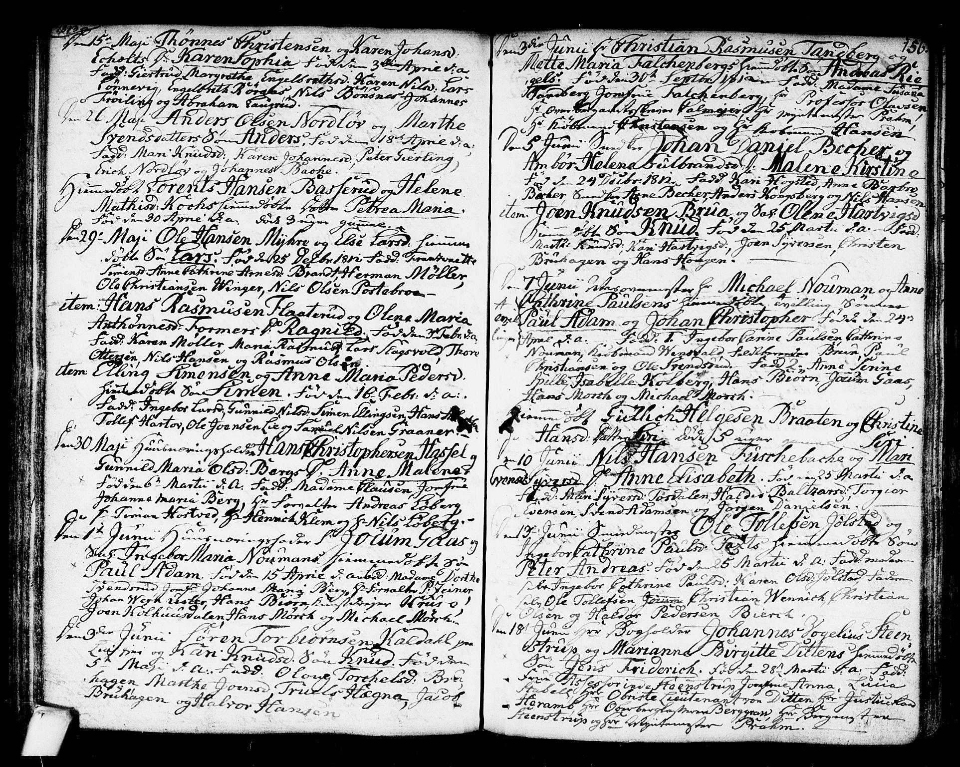 SAKO, Kongsberg kirkebøker, F/Fa/L0007: Ministerialbok nr. I 7, 1795-1816, s. 156