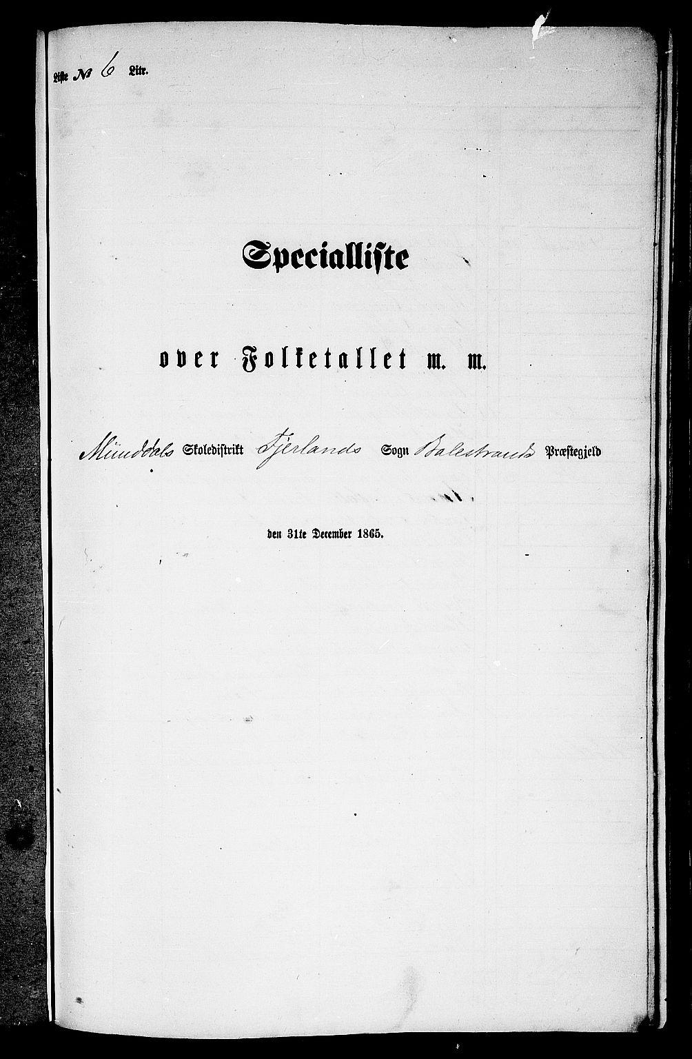 RA, Folketelling 1865 for 1418P Balestrand prestegjeld, 1865, s. 63
