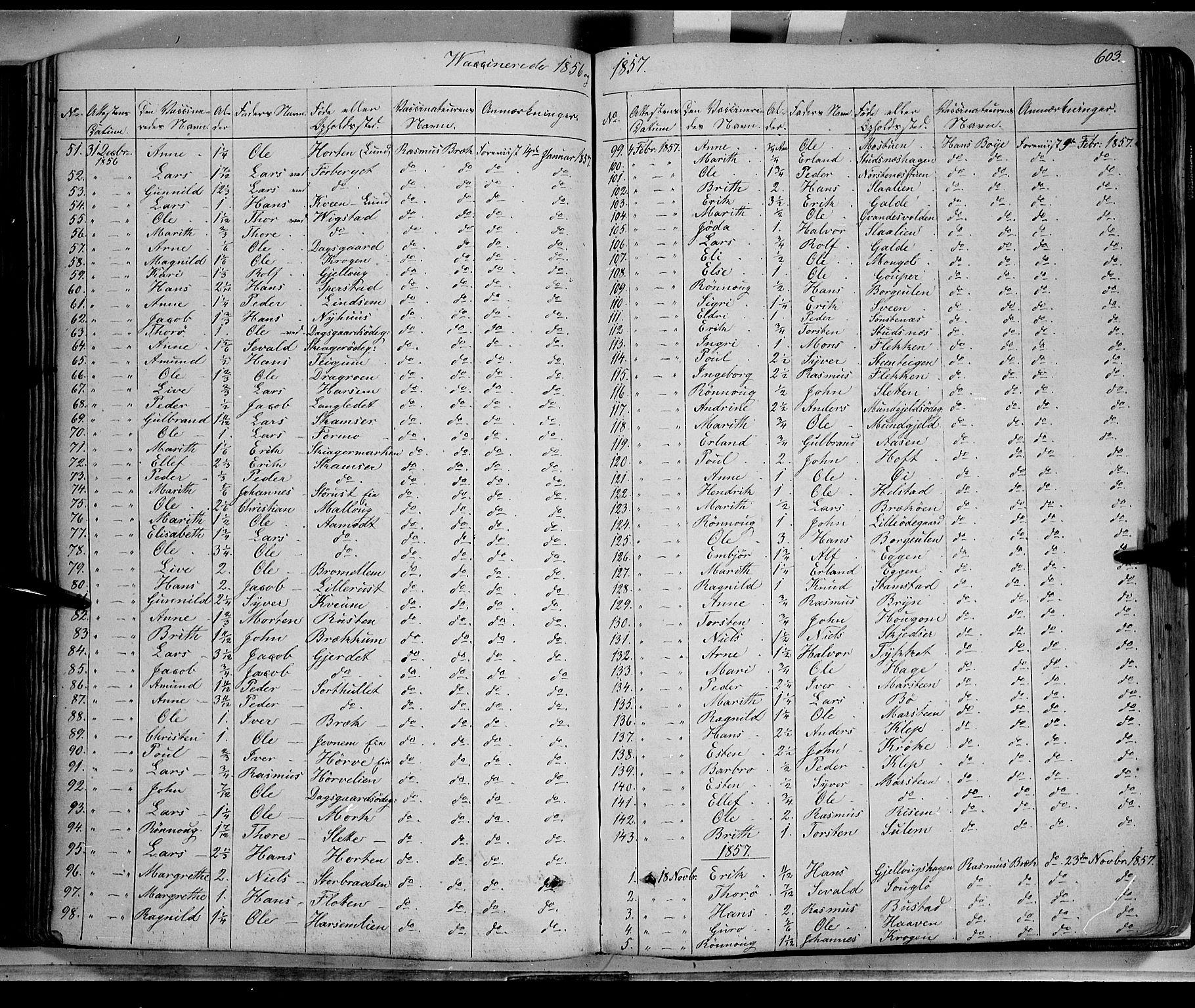 SAH, Lom prestekontor, K/L0006: Ministerialbok nr. 6B, 1837-1863, s. 603