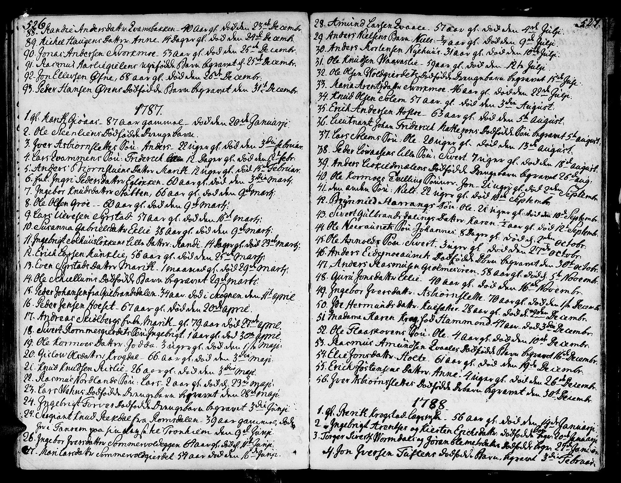 SAT, Ministerialprotokoller, klokkerbøker og fødselsregistre - Sør-Trøndelag, 668/L0802: Ministerialbok nr. 668A02, 1776-1799, s. 526-527