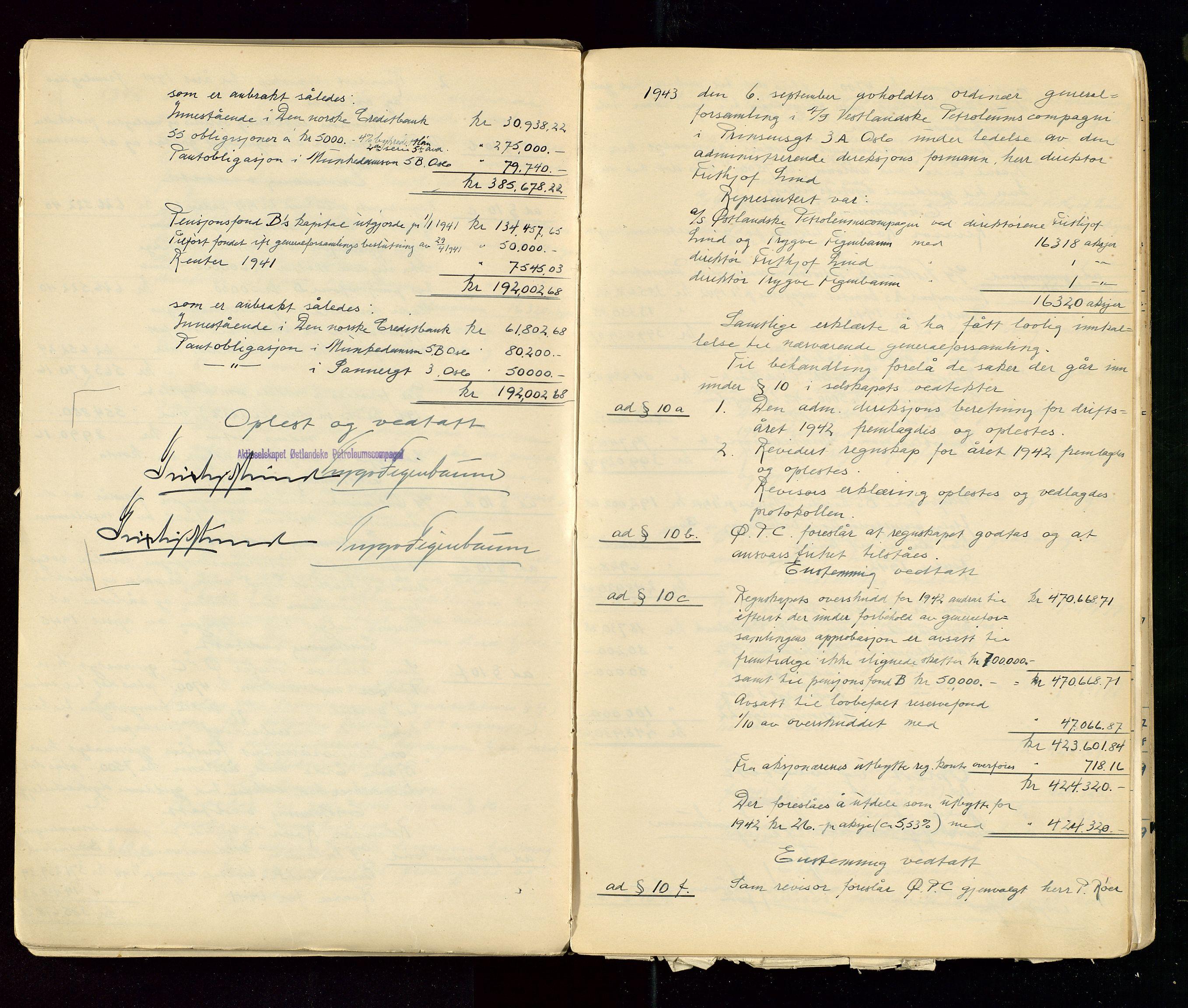SAST, PA 1533 - A/S Vestlandske Petroleumscompani, A/Aa/L0001: Generalforsamlinger og styreprotokoller, 1890-1953, s. 131