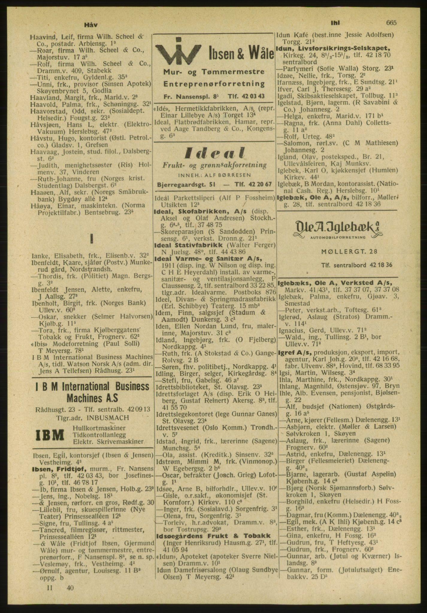 PUBL, Kristiania/Oslo adressebok, 1952, s. 665