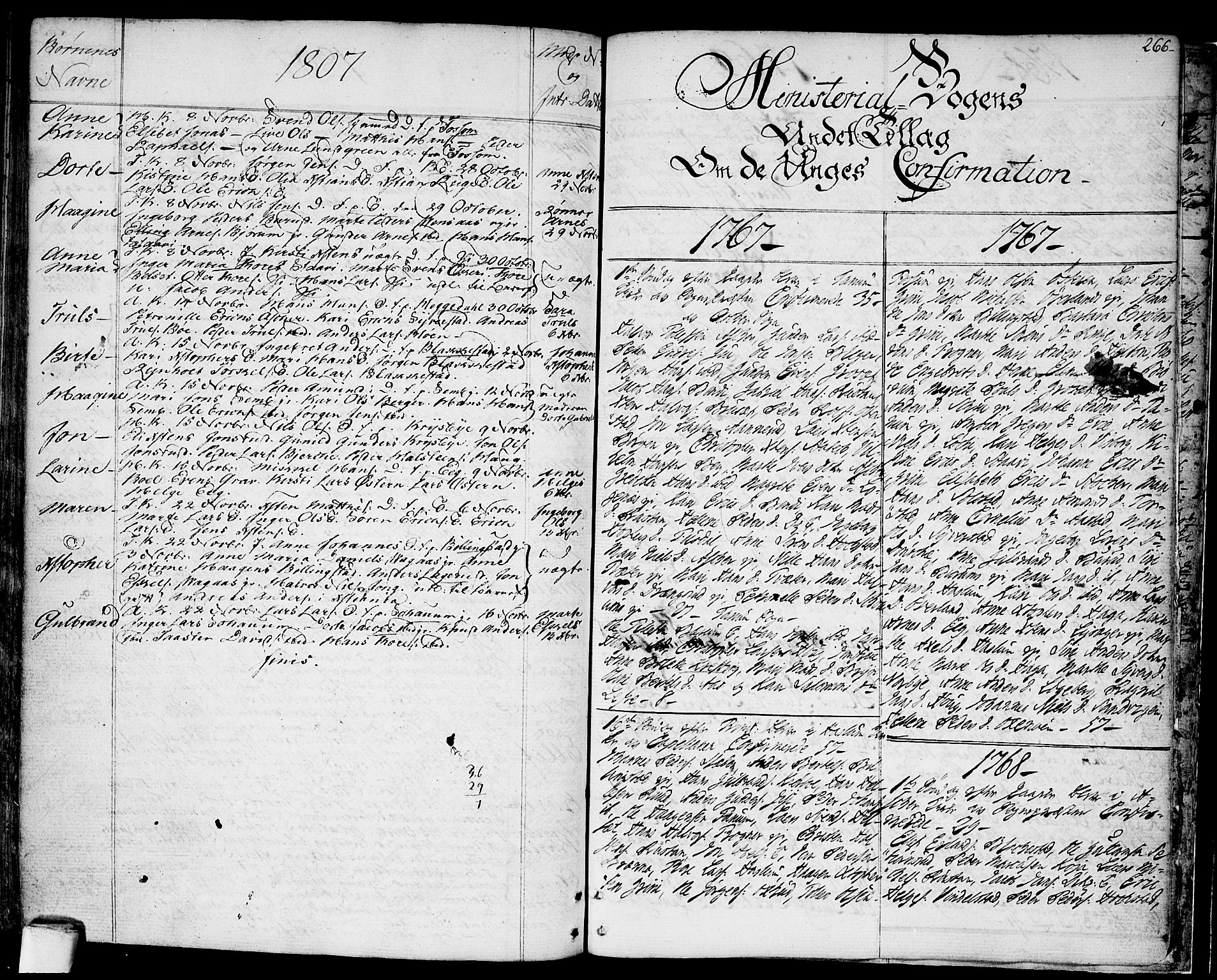 SAO, Asker prestekontor Kirkebøker, F/Fa/L0003: Ministerialbok nr. I 3, 1767-1807, s. 266