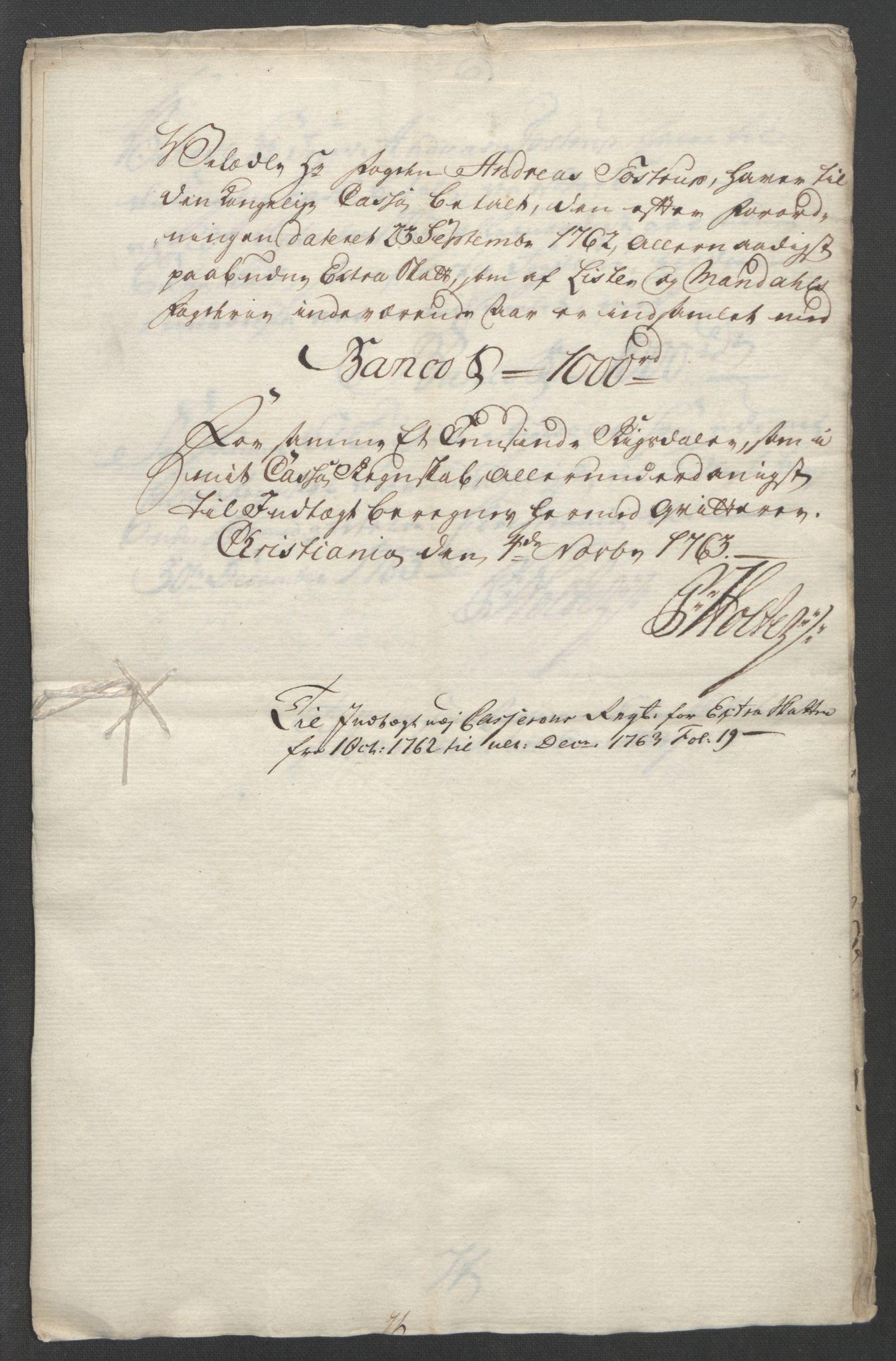 RA, Rentekammeret inntil 1814, Reviderte regnskaper, Fogderegnskap, R45/L2704: Ekstraskatten Lista og Mandal, 1762-1768, s. 104