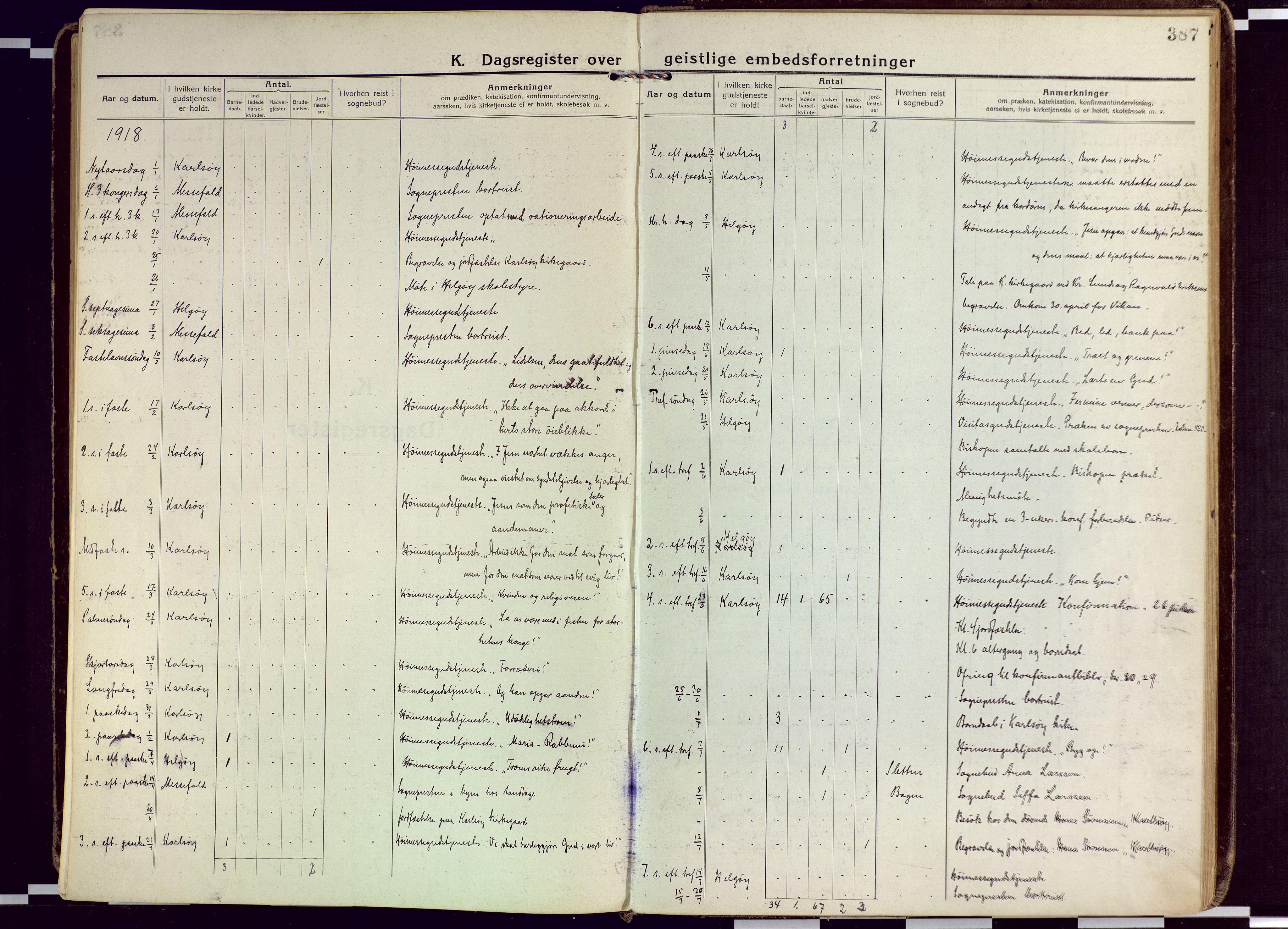 SATØ, Karlsøy sokneprestembete, Ministerialbok nr. 15, 1918-1929, s. 387