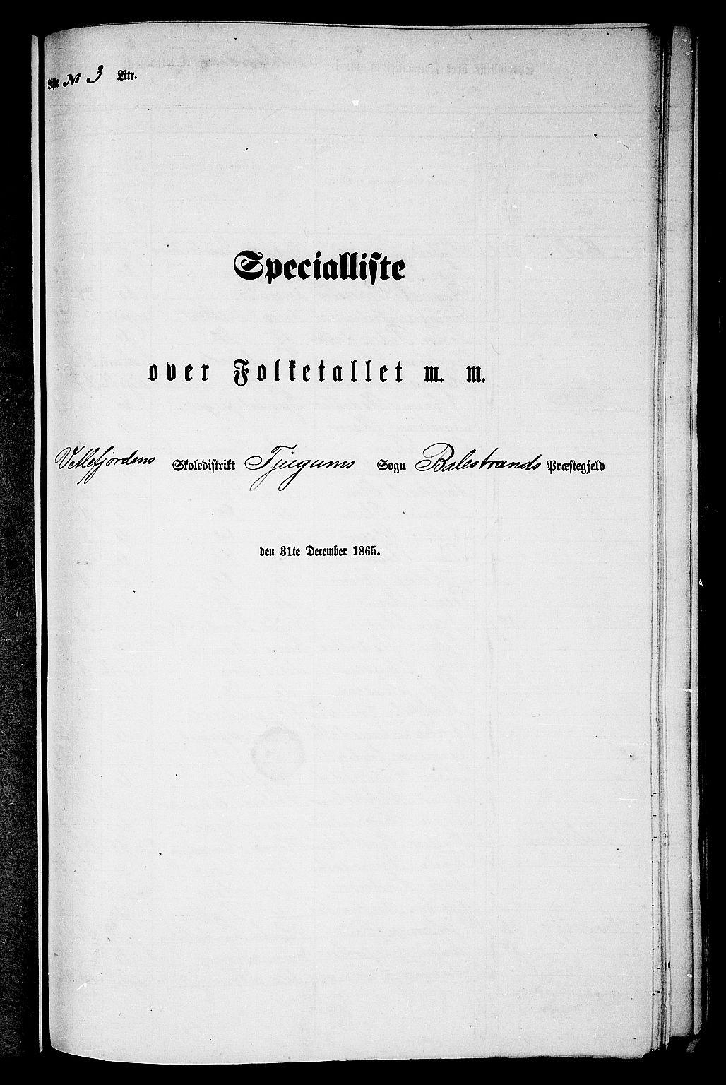 RA, Folketelling 1865 for 1418P Balestrand prestegjeld, 1865, s. 37