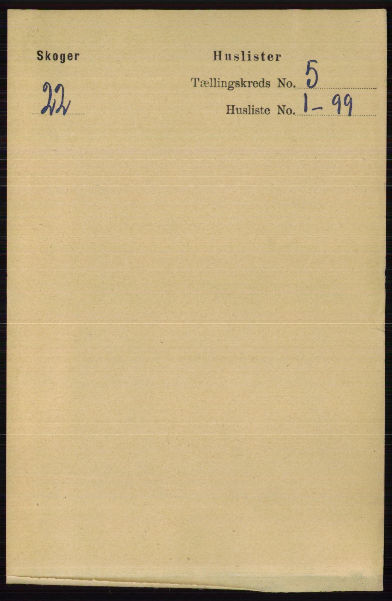 RA, Folketelling 1891 for 0712 Skoger herred, 1891, s. 3007