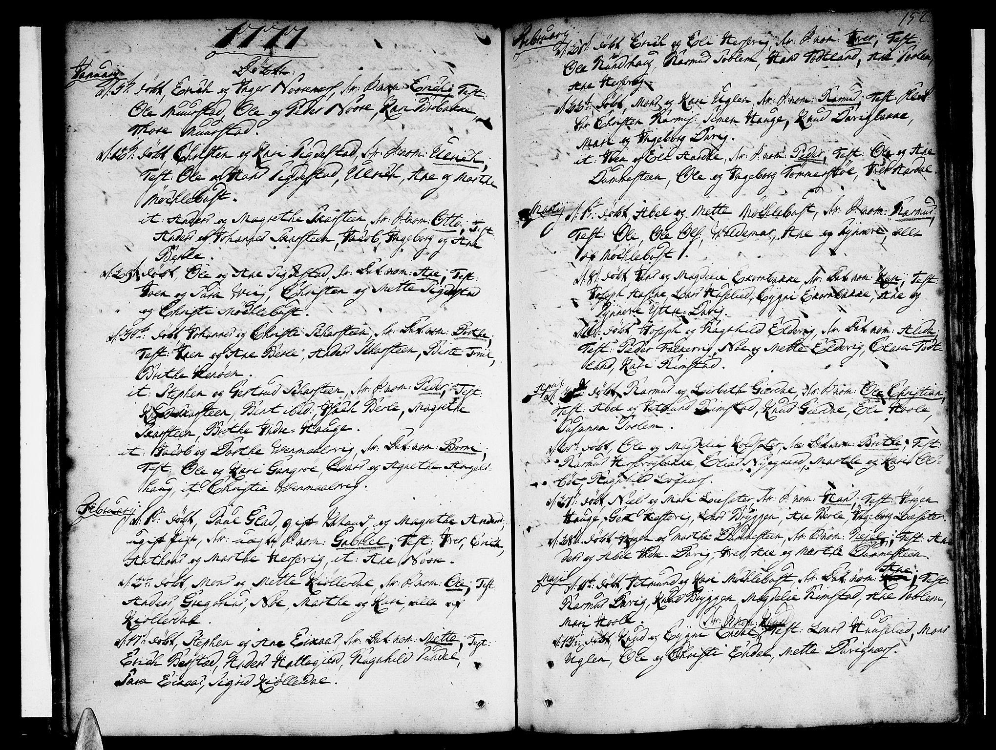 SAB, Davik Sokneprestembete, Ministerialbok nr. A 2, 1742-1816, s. 152