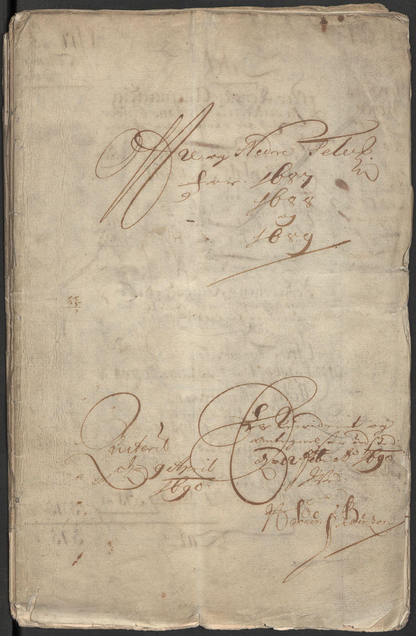 RA, Rentekammeret inntil 1814, Reviderte regnskaper, Fogderegnskap, R35/L2086: Fogderegnskap Øvre og Nedre Telemark, 1687-1689, s. 3