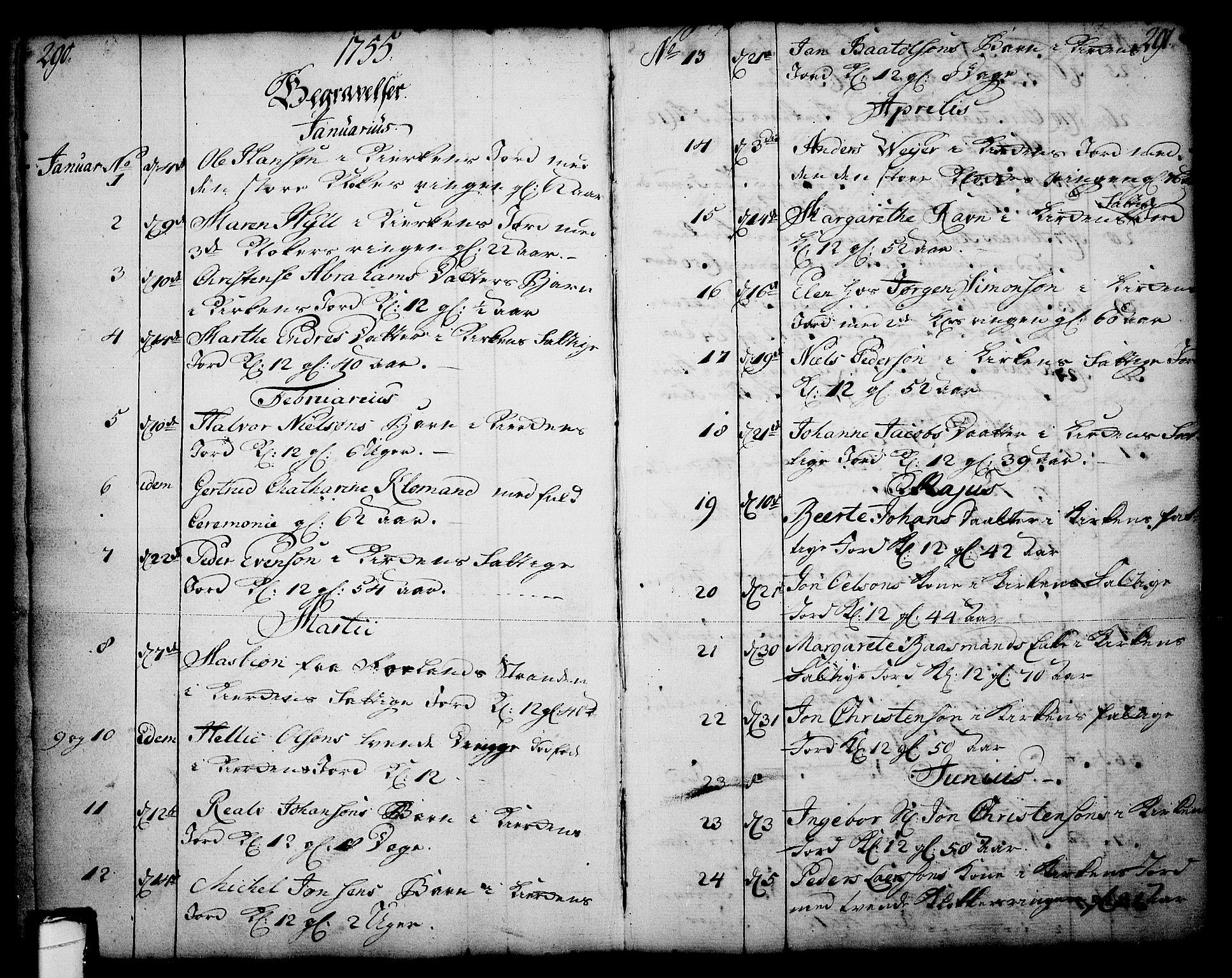 SAKO, Skien kirkebøker, F/Fa/L0003: Ministerialbok nr. 3, 1755-1791, s. 290-291
