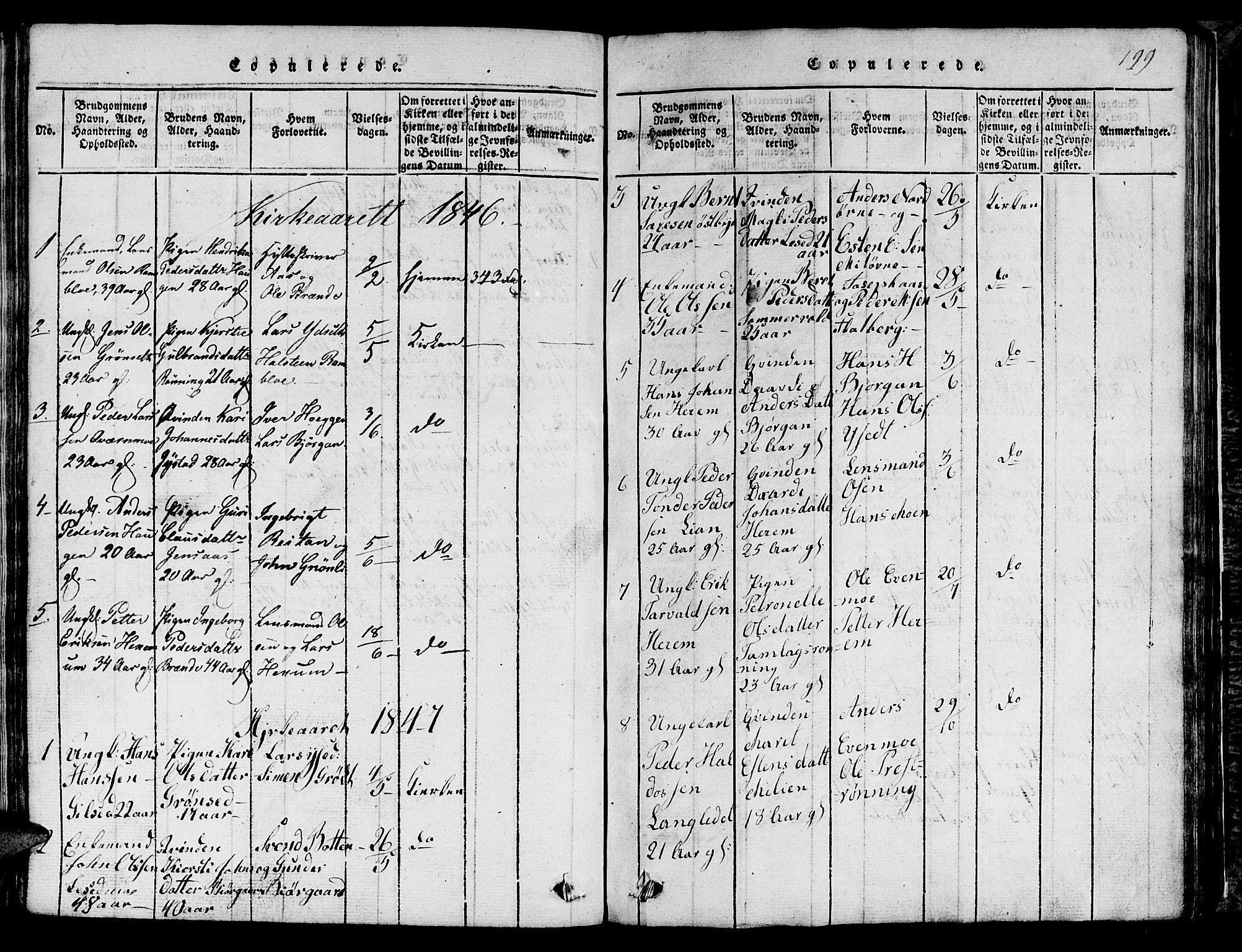 SAT, Ministerialprotokoller, klokkerbøker og fødselsregistre - Sør-Trøndelag, 685/L0976: Klokkerbok nr. 685C01, 1817-1878, s. 199