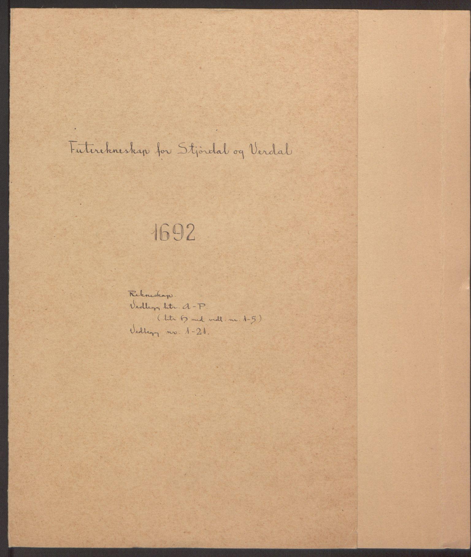 RA, Rentekammeret inntil 1814, Reviderte regnskaper, Fogderegnskap, R62/L4185: Fogderegnskap Stjørdal og Verdal, 1692, s. 2