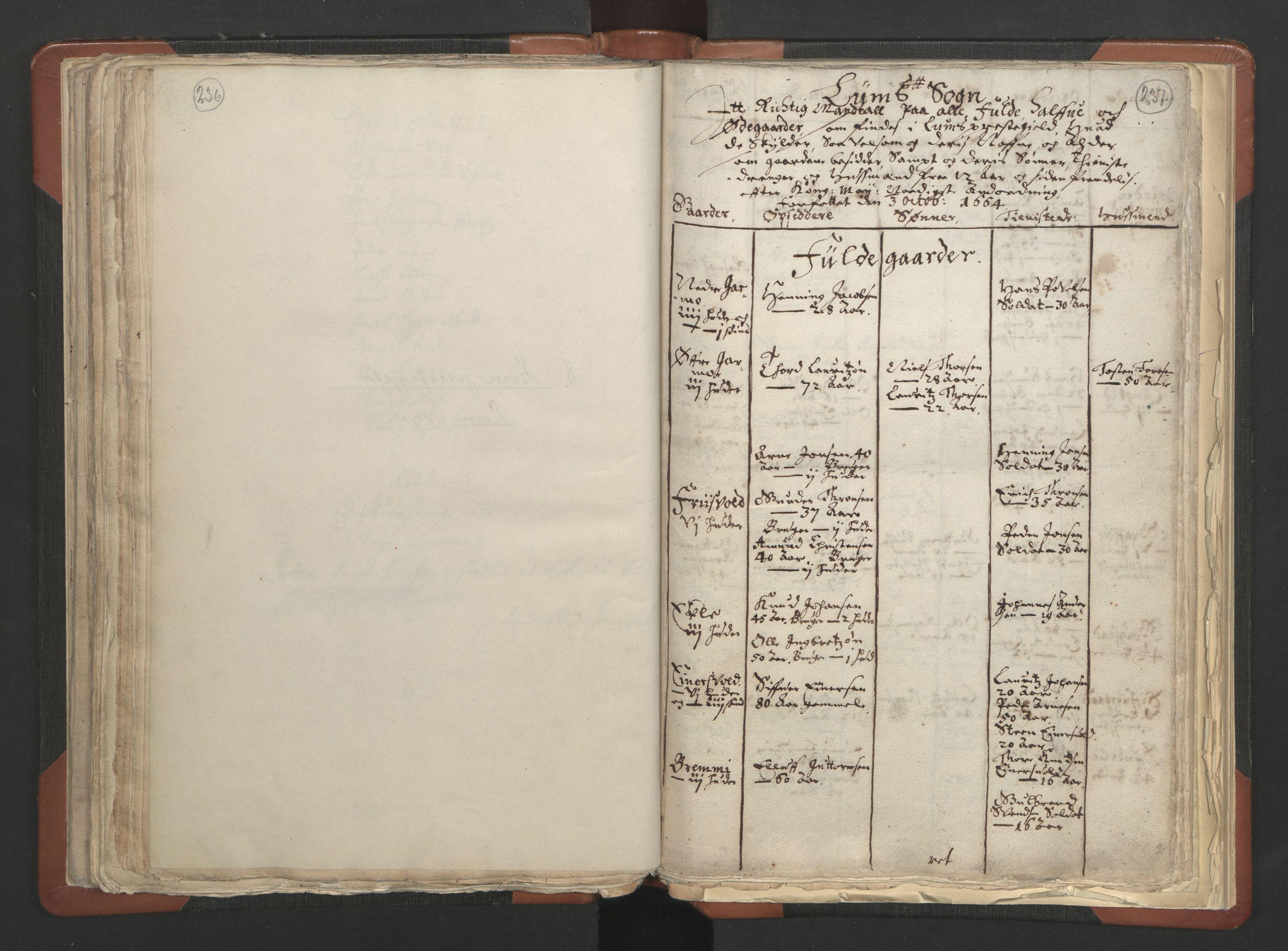 RA, Sogneprestenes manntall 1664-1666, nr. 6: Gudbrandsdal prosti, 1664-1666, s. 236-237