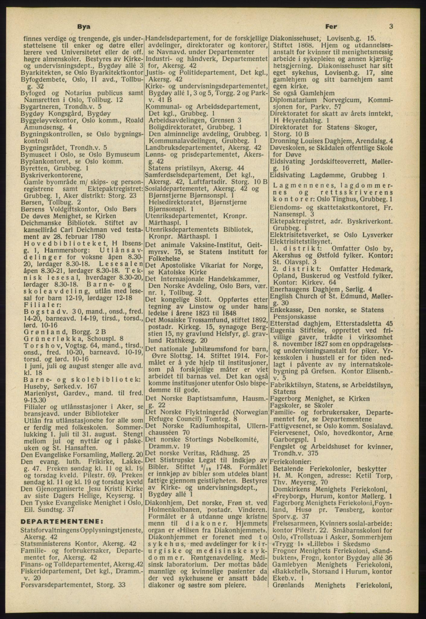 RA, Oslo adressebok (publikasjon)*, 1960-1961, s. 3