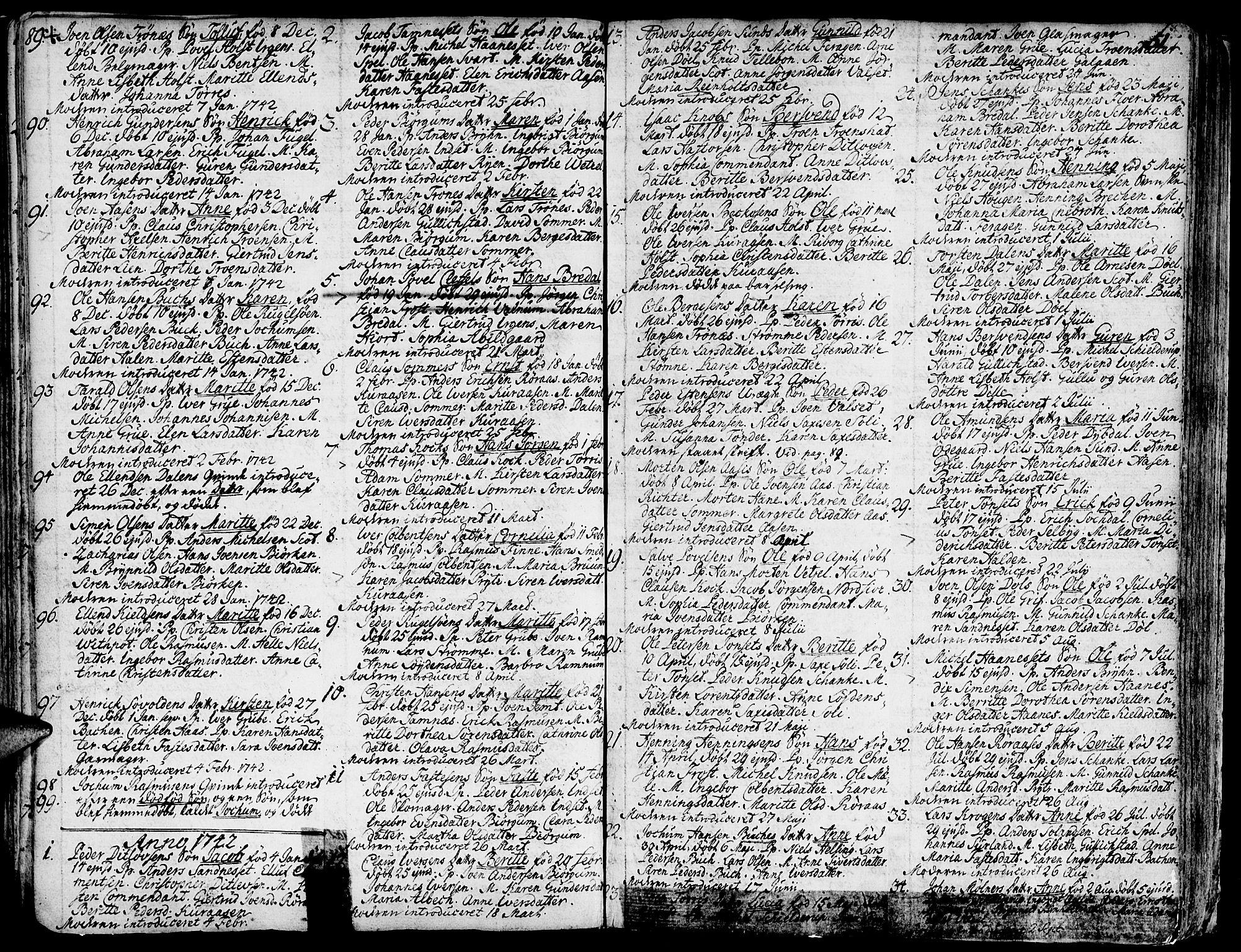 SAT, Ministerialprotokoller, klokkerbøker og fødselsregistre - Sør-Trøndelag, 681/L0925: Ministerialbok nr. 681A03, 1727-1766, s. 51