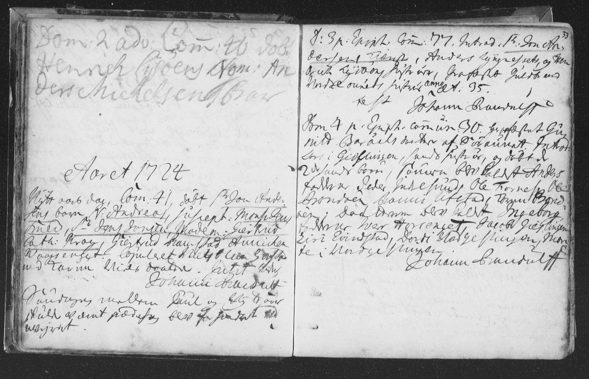 SAT, Ministerialprotokoller, klokkerbøker og fødselsregistre - Nord-Trøndelag, 786/L0685: Ministerialbok nr. 786A01, 1710-1798, s. 33