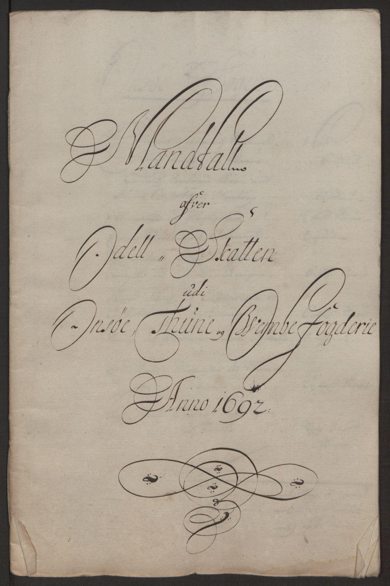 RA, Rentekammeret inntil 1814, Reviderte regnskaper, Fogderegnskap, R03/L0120: Fogderegnskap Onsøy, Tune, Veme og Åbygge fogderi, 1692-1693, s. 117