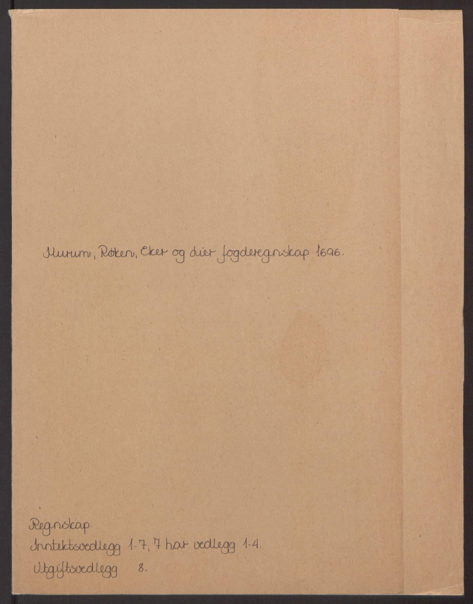RA, Rentekammeret inntil 1814, Reviderte regnskaper, Fogderegnskap, R30/L1694: Fogderegnskap Hurum, Røyken, Eiker og Lier, 1694-1696, s. 305