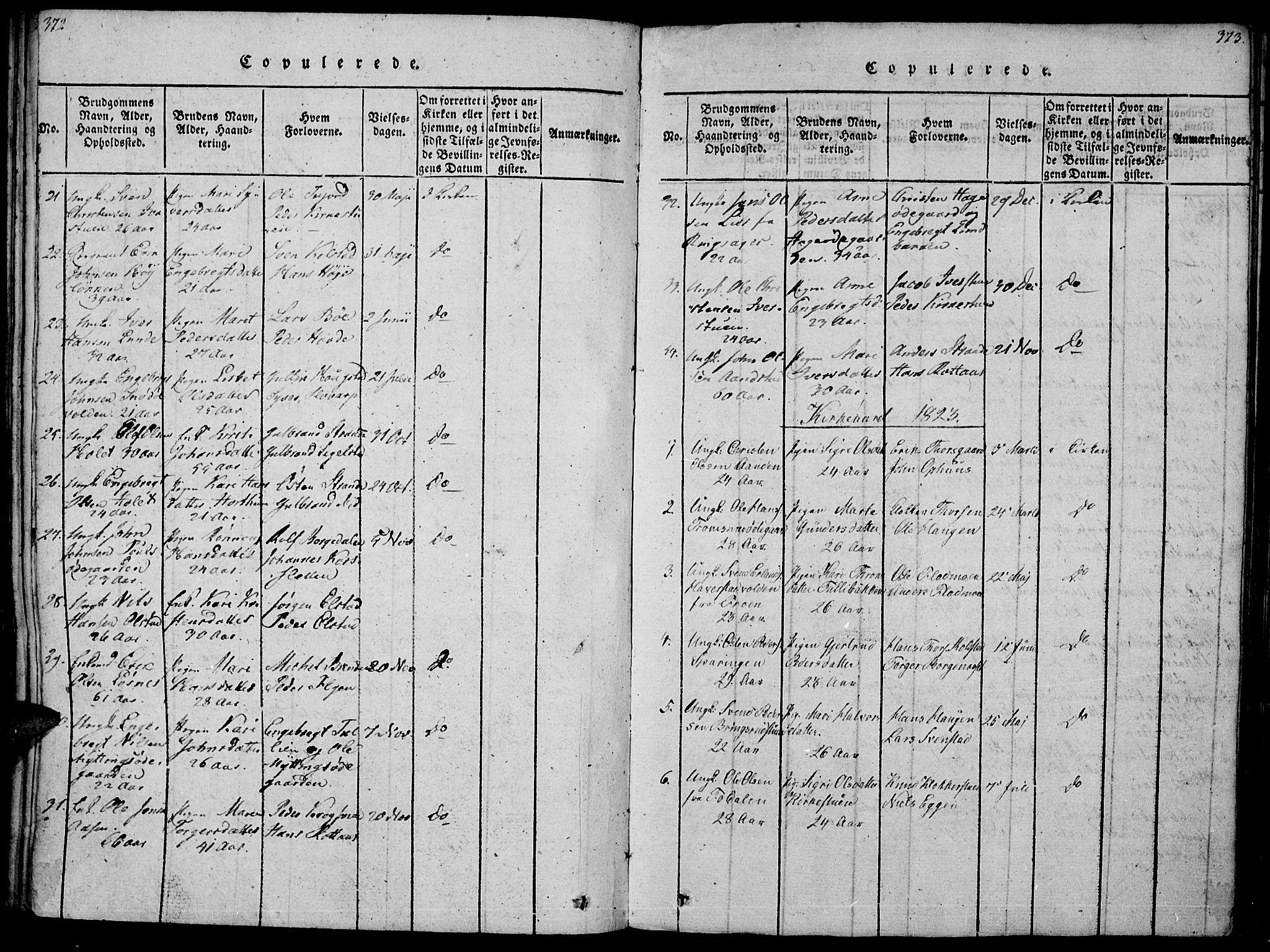 SAH, Ringebu prestekontor, Ministerialbok nr. 4, 1821-1839, s. 372-373