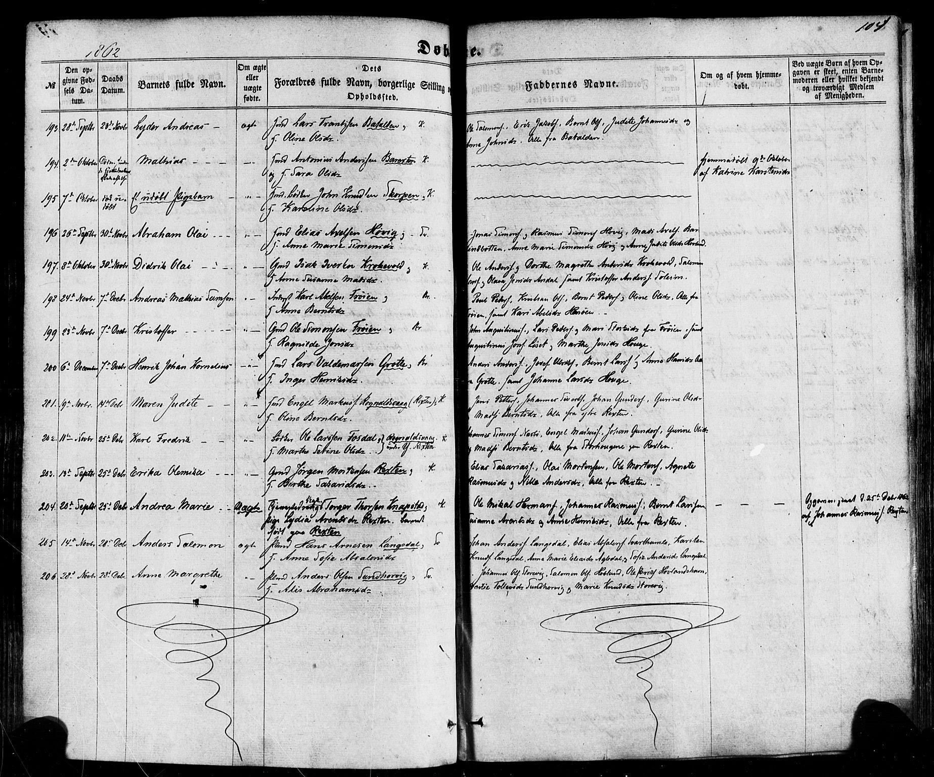 SAB, Kinn Sokneprestembete, Ministerialbok nr. A 6, 1857-1885, s. 104