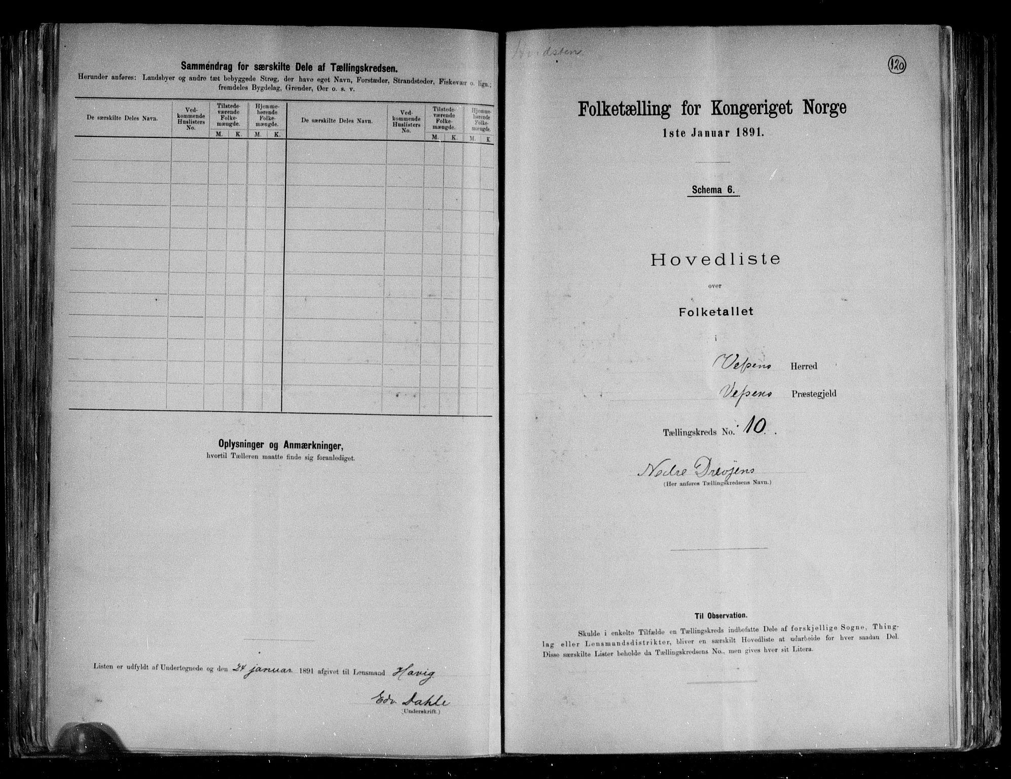 RA, Folketelling 1891 for 1824 Vefsn herred, 1891, s. 25