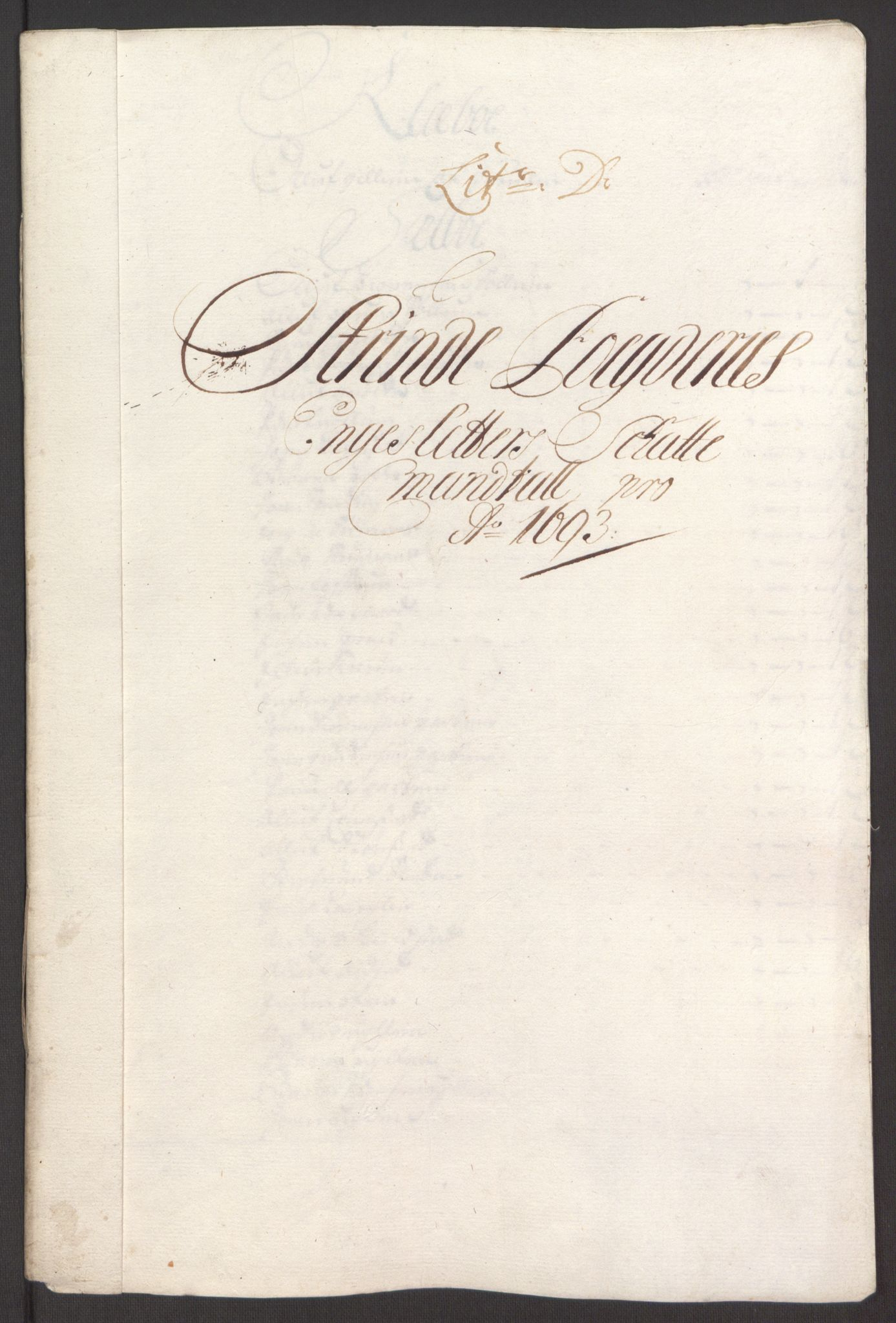 RA, Rentekammeret inntil 1814, Reviderte regnskaper, Fogderegnskap, R61/L4104: Fogderegnskap Strinda og Selbu, 1693-1694, s. 64