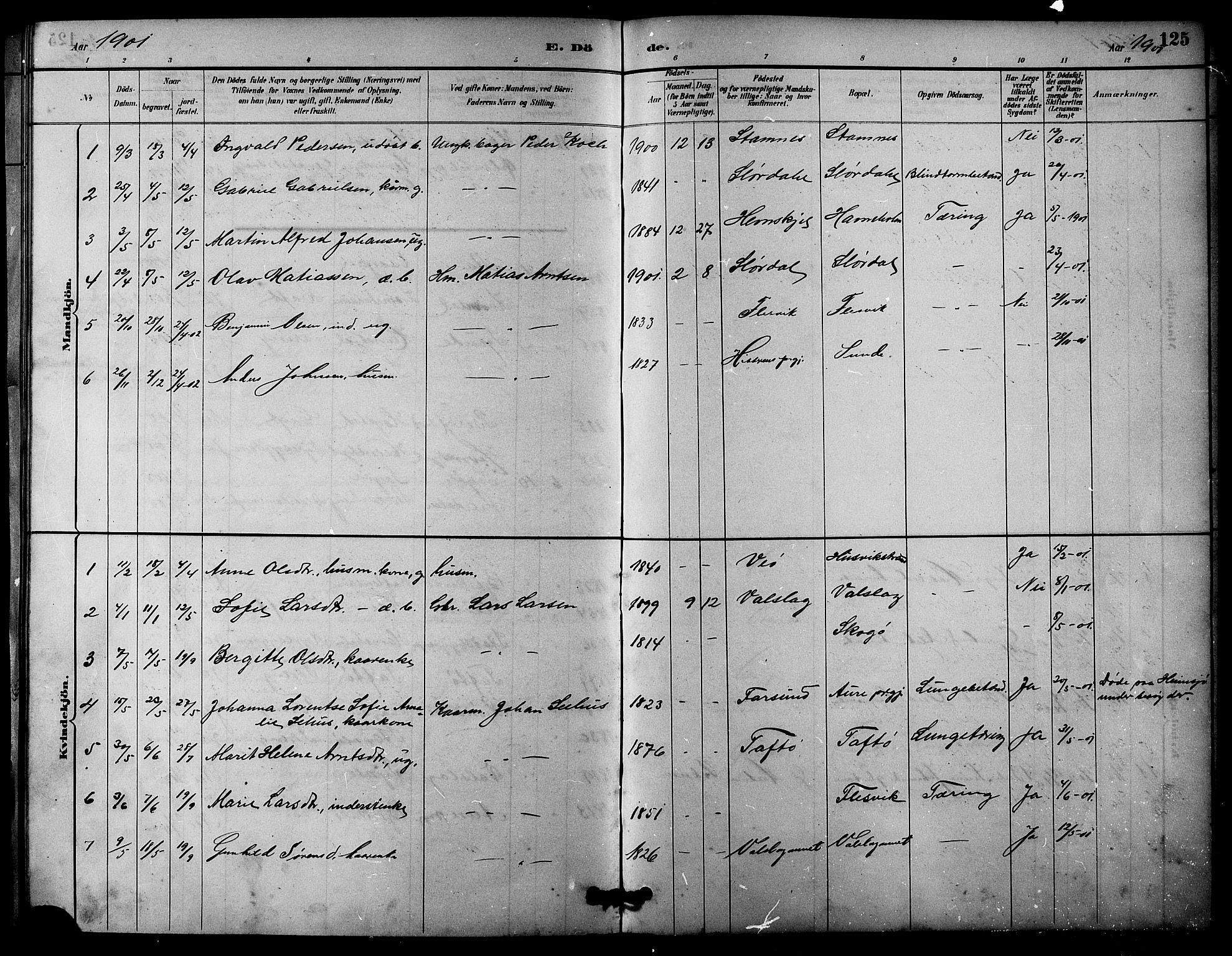 SAT, Ministerialprotokoller, klokkerbøker og fødselsregistre - Sør-Trøndelag, 633/L0519: Klokkerbok nr. 633C01, 1884-1905, s. 125