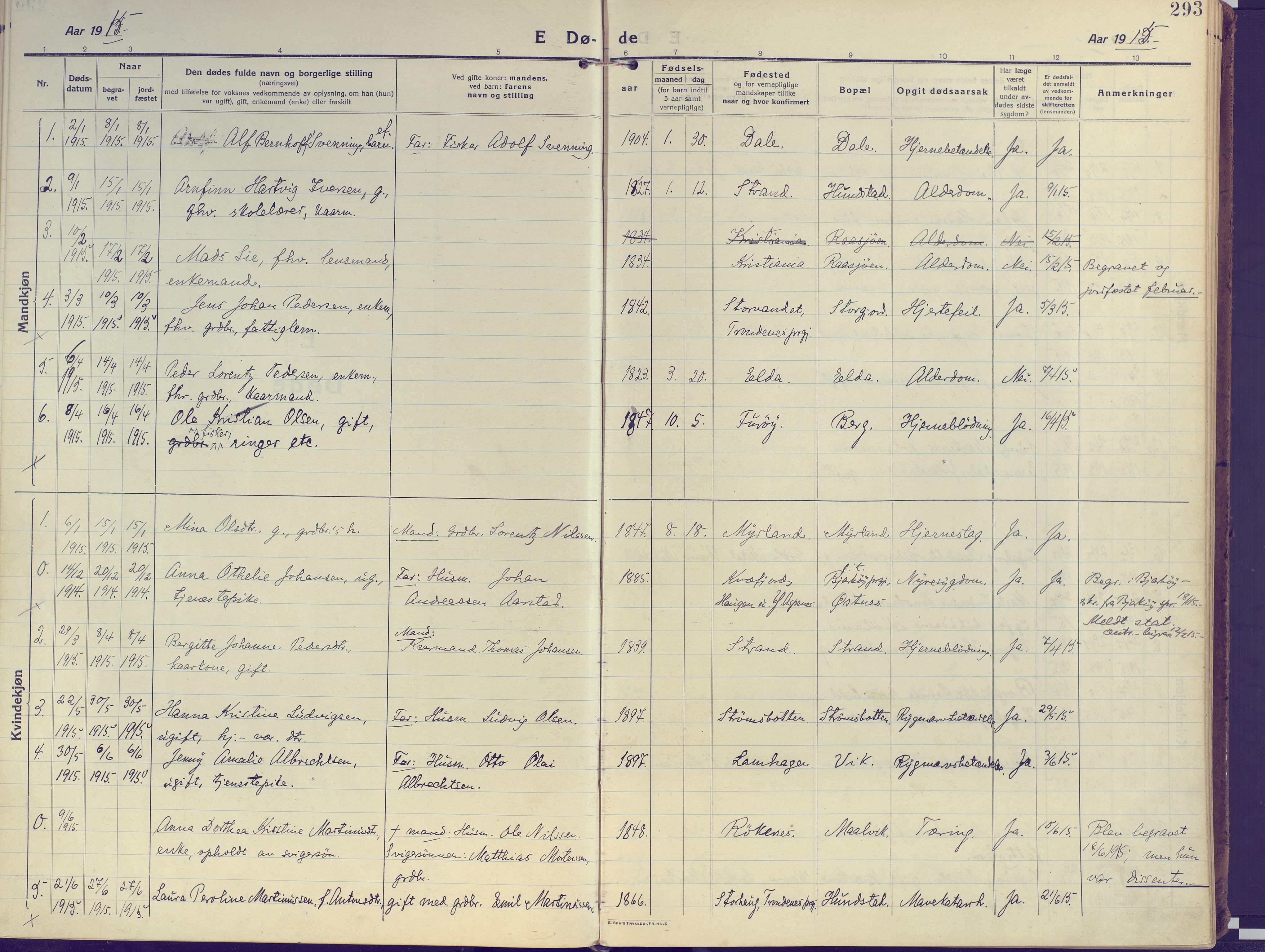 SATØ, Kvæfjord sokneprestkontor, G/Ga/Gaa/L0007kirke: Ministerialbok nr. 7, 1915-1931, s. 293
