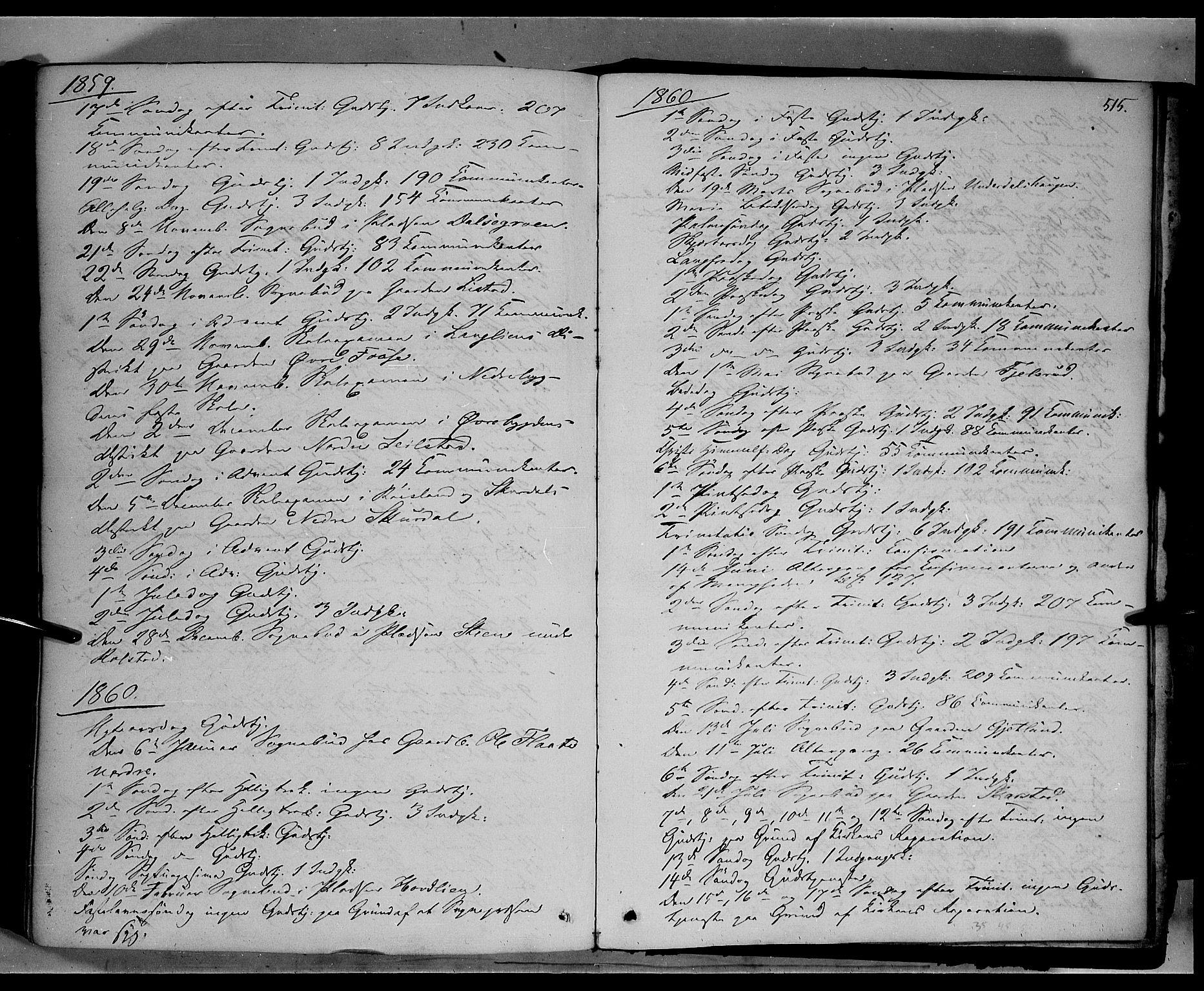 SAH, Sør-Fron prestekontor, H/Ha/Haa/L0001: Ministerialbok nr. 1, 1849-1863, s. 515