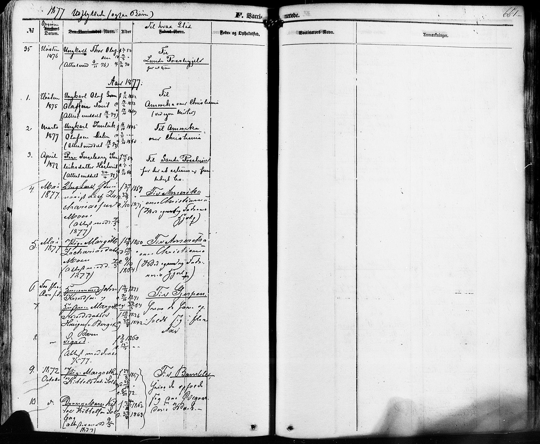 SAKO, Kviteseid kirkebøker, F/Fa/L0007: Ministerialbok nr. I 7, 1859-1881, s. 661