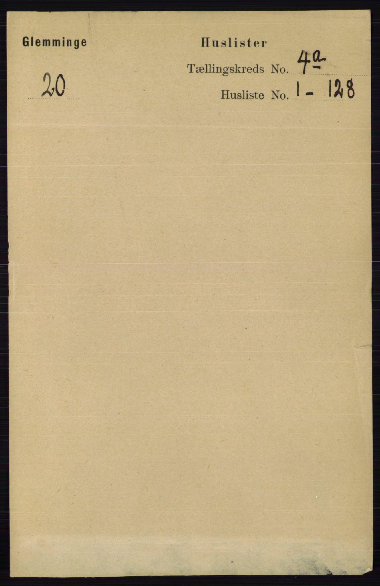RA, Folketelling 1891 for 0132 Glemmen herred, 1891, s. 3339