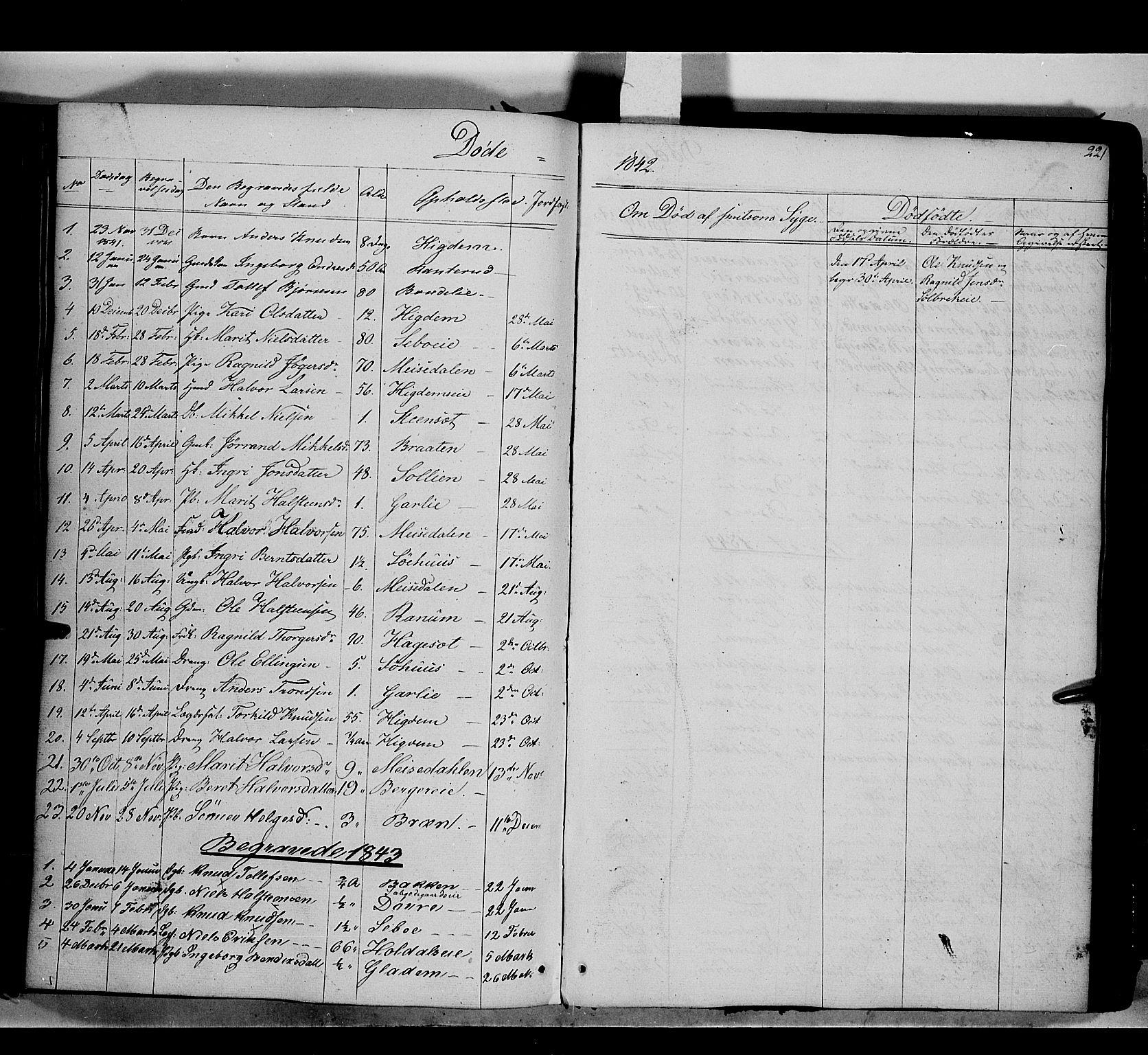 SAH, Nord-Aurdal prestekontor, Ministerialbok nr. 7, 1842-1863, s. 221