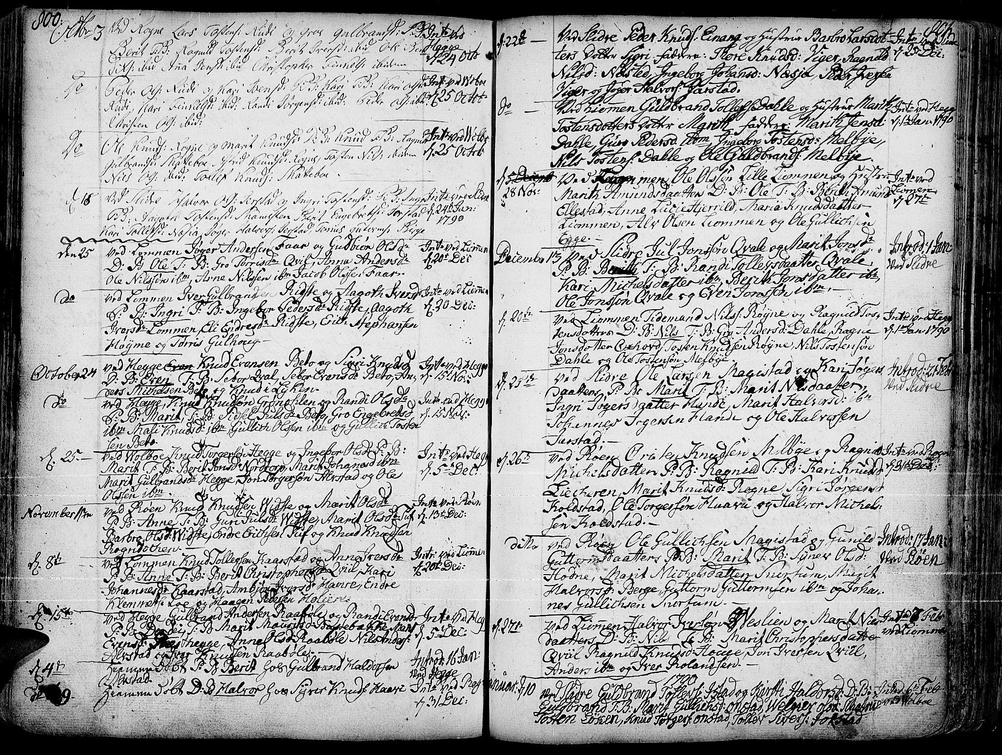 SAH, Slidre prestekontor, Ministerialbok nr. 1, 1724-1814, s. 800-801