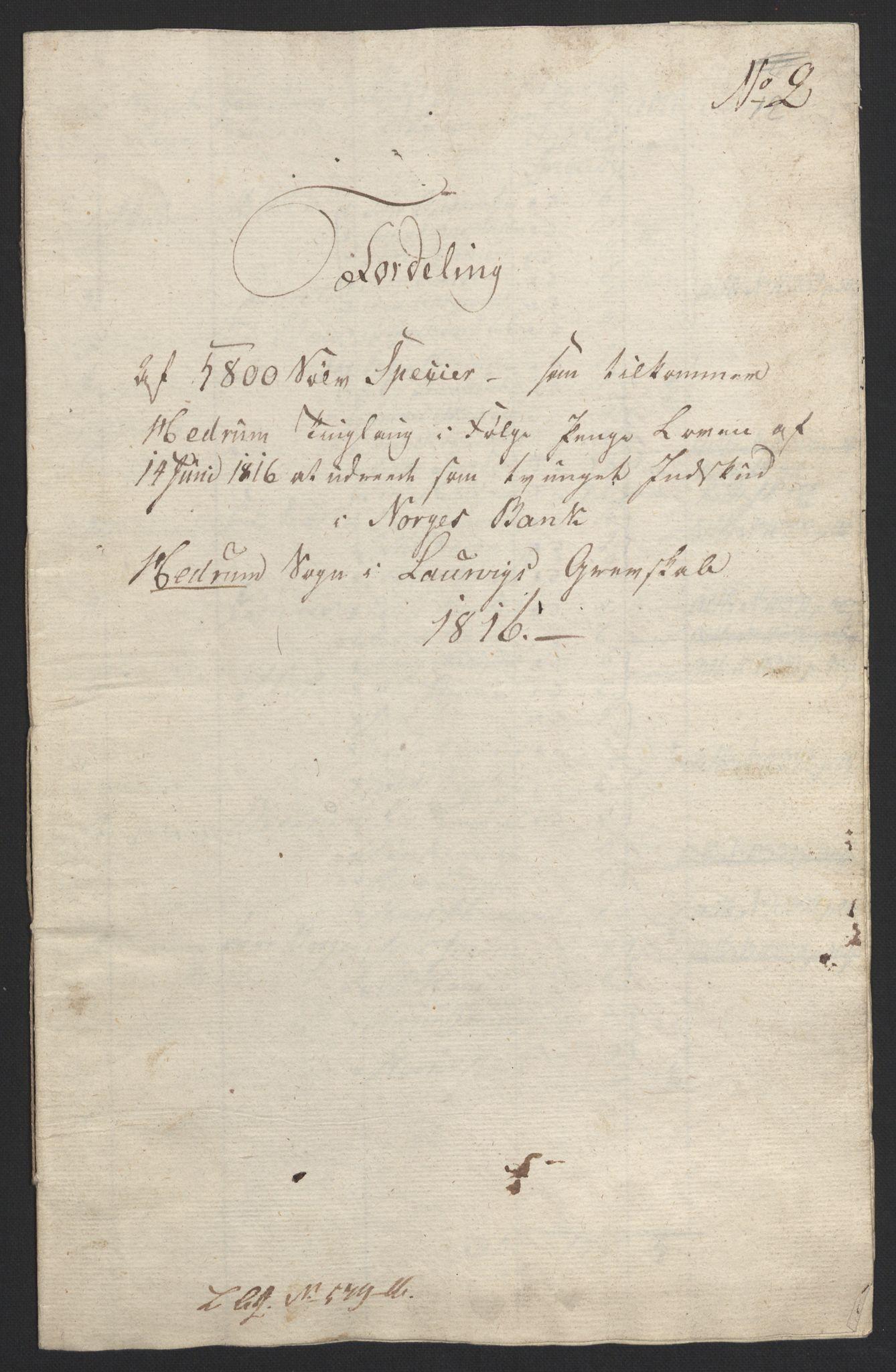 NOBA, Norges Bank/Sølvskatten 1816*, 1816-1824, s. 17