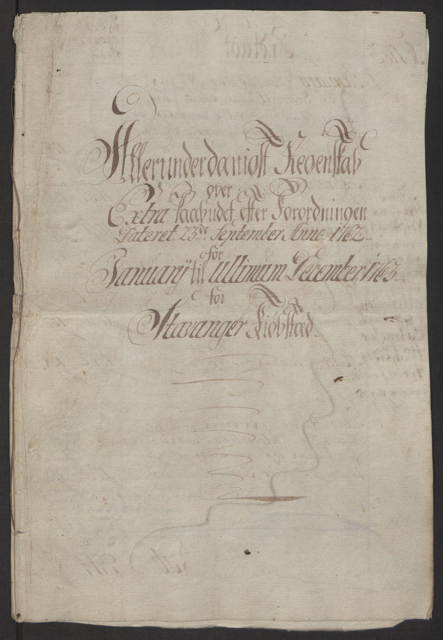 RA, Rentekammeret inntil 1814, Reviderte regnskaper, Byregnskaper, R/Ro/L0305: [O6] Kontribusjonsregnskap, 1762-1768, s. 15