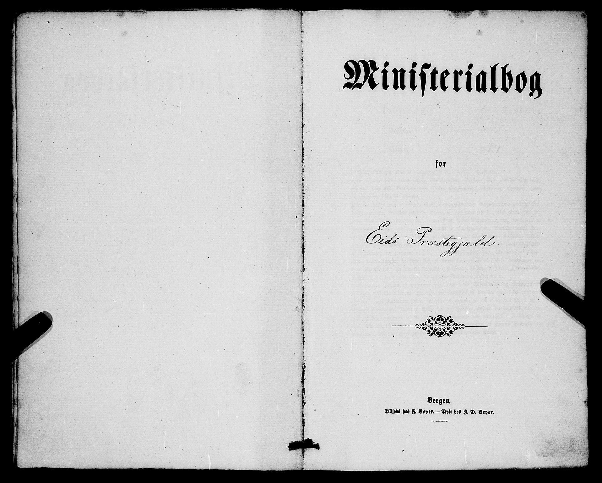 SAB, Eid Sokneprestembete, H/Haa: Ministerialbok nr. A 9, 1861-1868