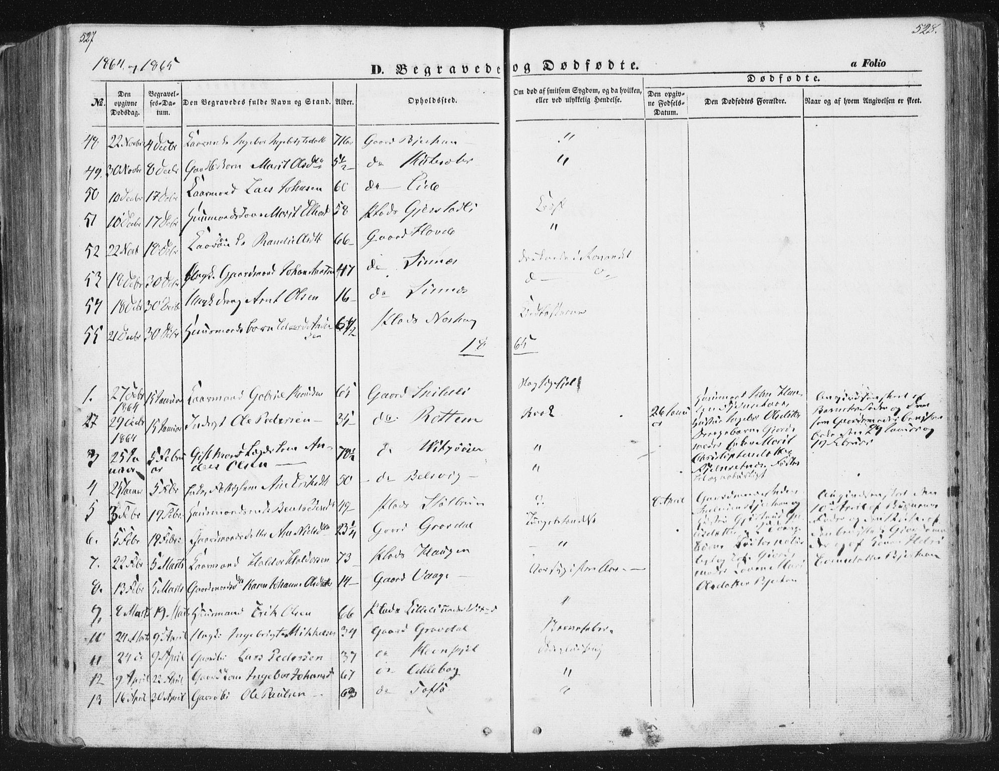 SAT, Ministerialprotokoller, klokkerbøker og fødselsregistre - Sør-Trøndelag, 630/L0494: Ministerialbok nr. 630A07, 1852-1868, s. 527-528