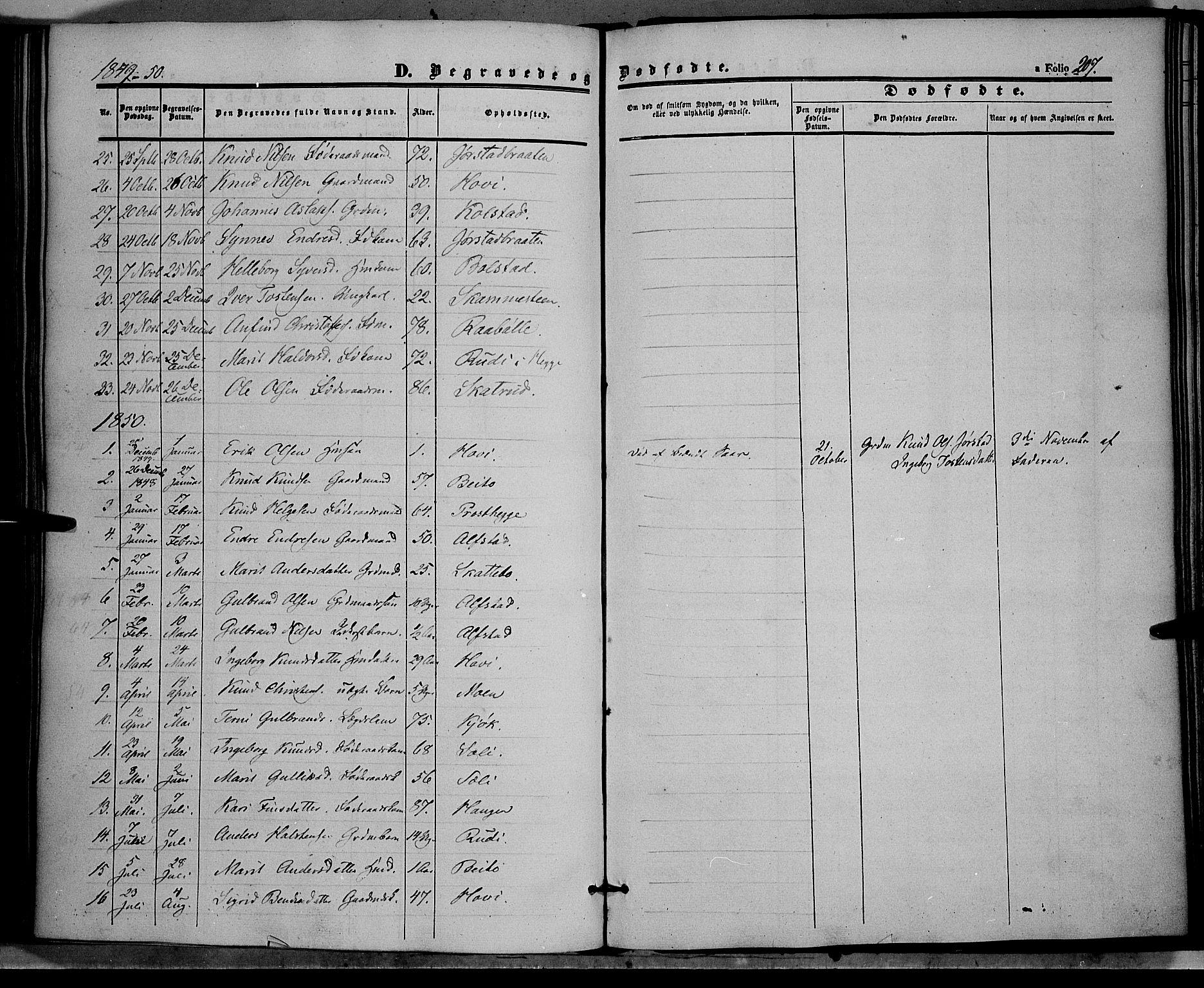 SAH, Øystre Slidre prestekontor, Ministerialbok nr. 1, 1849-1874, s. 207
