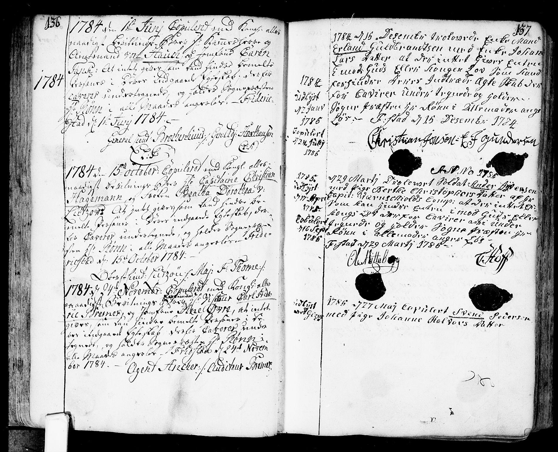 SAO, Fredrikstad prestekontor Kirkebøker, F/Fa/L0002: Ministerialbok nr. 2, 1750-1804, s. 136-137