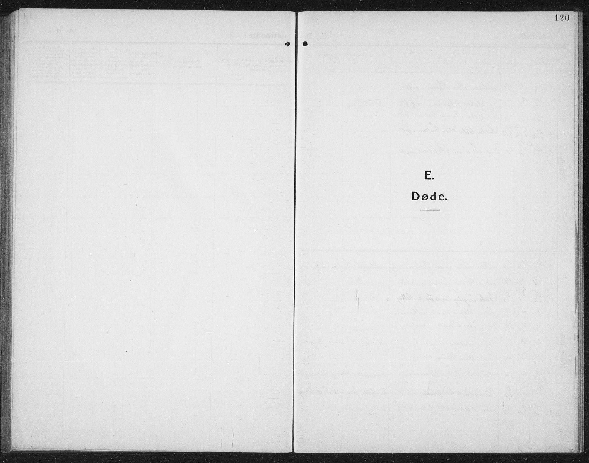 SAT, Ministerialprotokoller, klokkerbøker og fødselsregistre - Nord-Trøndelag, 731/L0312: Klokkerbok nr. 731C03, 1911-1935, s. 120