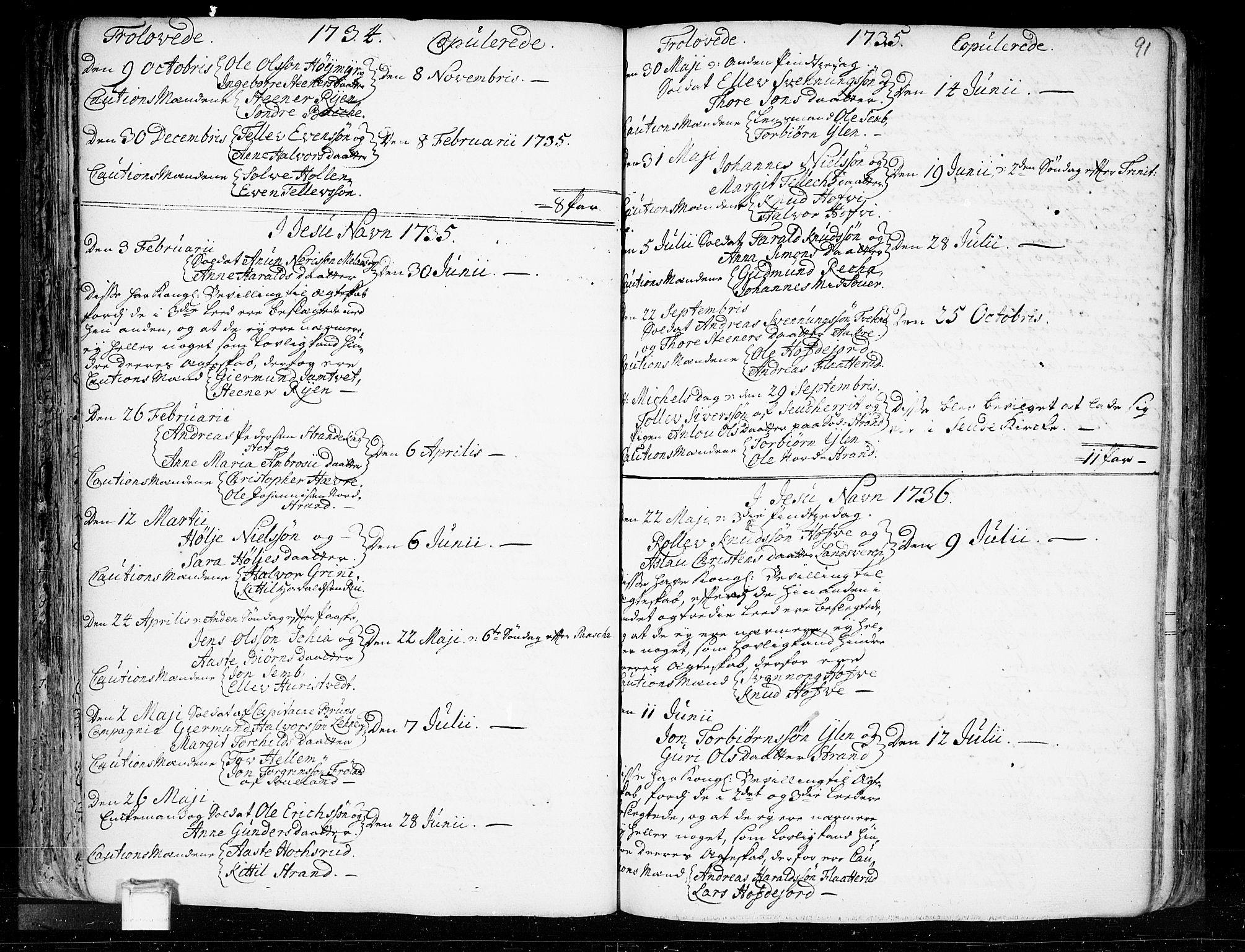SAKO, Heddal kirkebøker, F/Fa/L0003: Ministerialbok nr. I 3, 1723-1783, s. 91