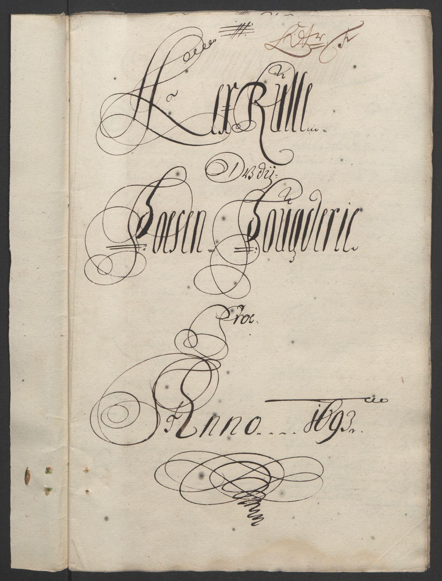 RA, Rentekammeret inntil 1814, Reviderte regnskaper, Fogderegnskap, R57/L3849: Fogderegnskap Fosen, 1692-1693, s. 472