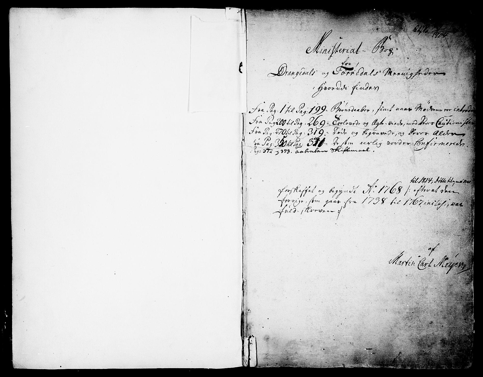 SAKO, Drangedal kirkebøker, F/Fa/L0003: Ministerialbok nr. 3, 1768-1814
