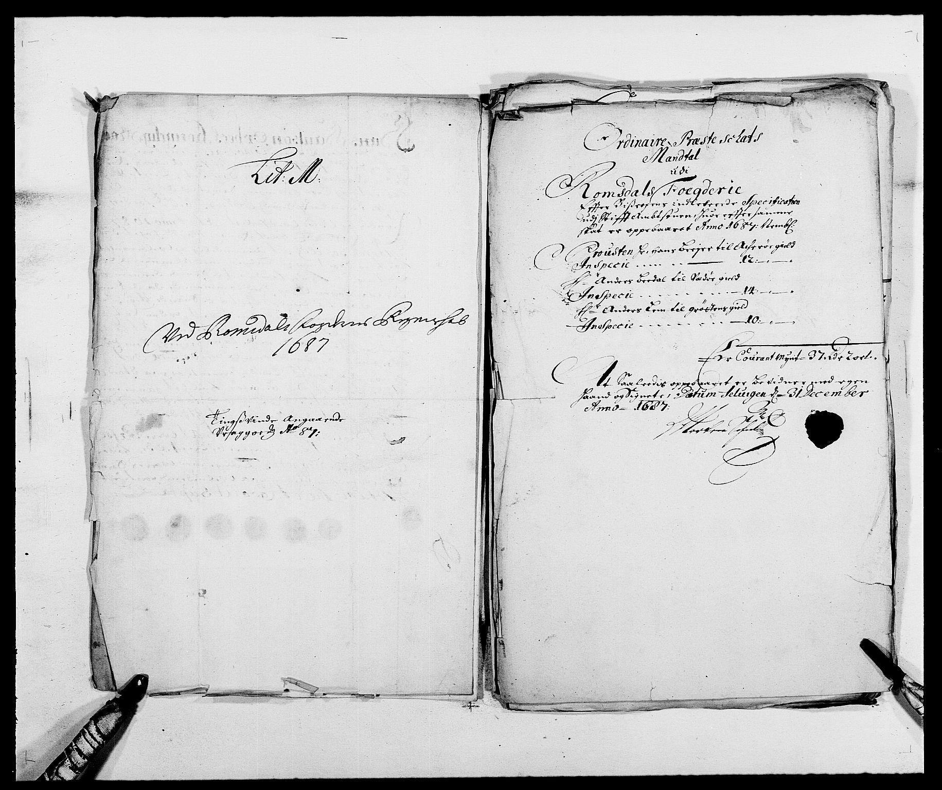 RA, Rentekammeret inntil 1814, Reviderte regnskaper, Fogderegnskap, R55/L3648: Fogderegnskap Romsdal, 1687-1689, s. 138