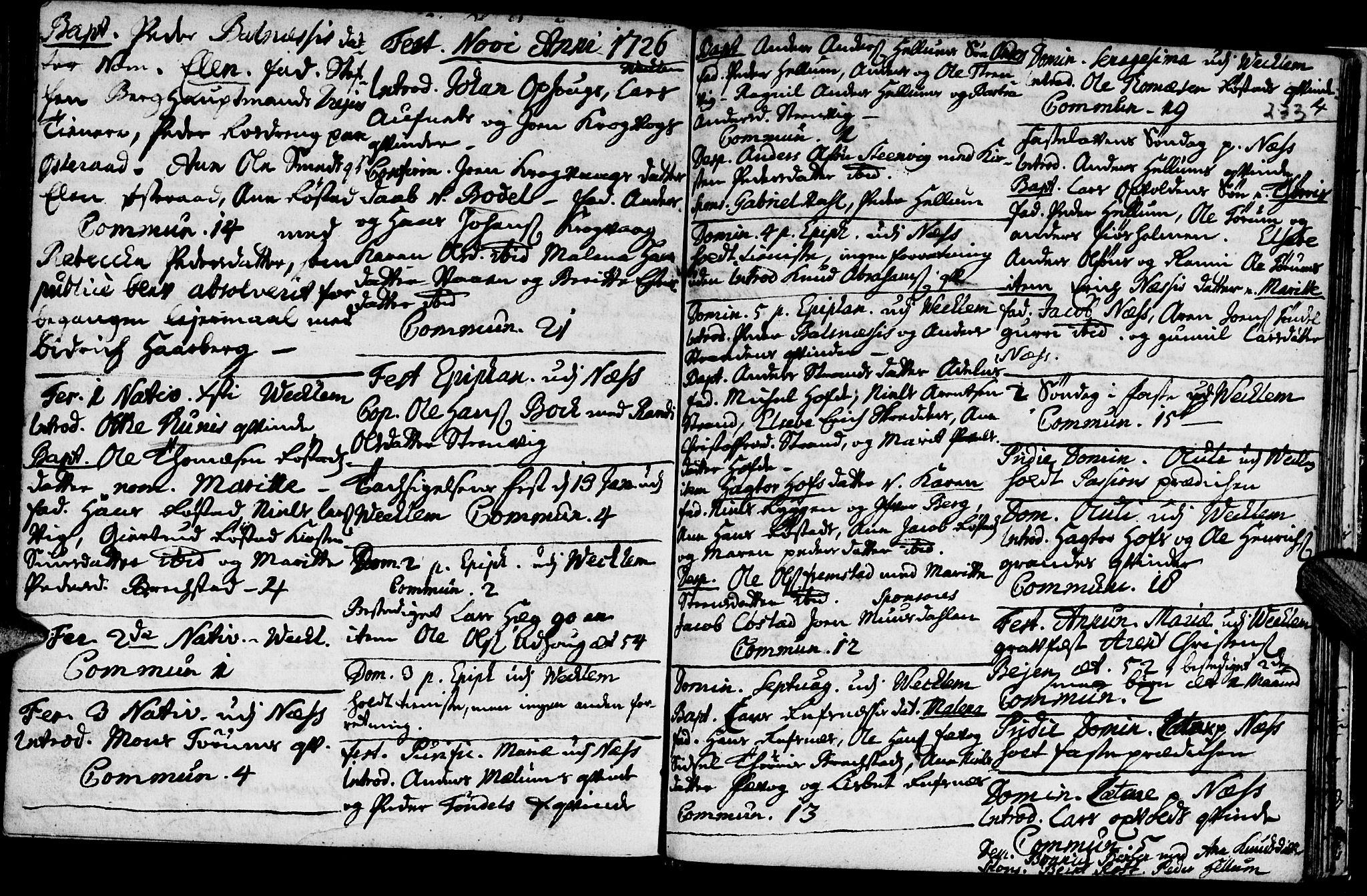 SAT, Ministerialprotokoller, klokkerbøker og fødselsregistre - Sør-Trøndelag, 659/L0731: Ministerialbok nr. 659A01, 1709-1731, s. 232-233