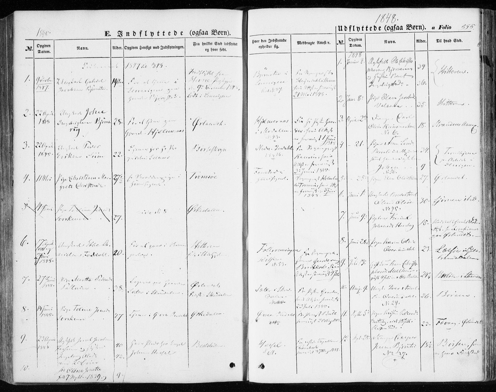 SAT, Ministerialprotokoller, klokkerbøker og fødselsregistre - Sør-Trøndelag, 646/L0611: Ministerialbok nr. 646A09, 1848-1857, s. 355