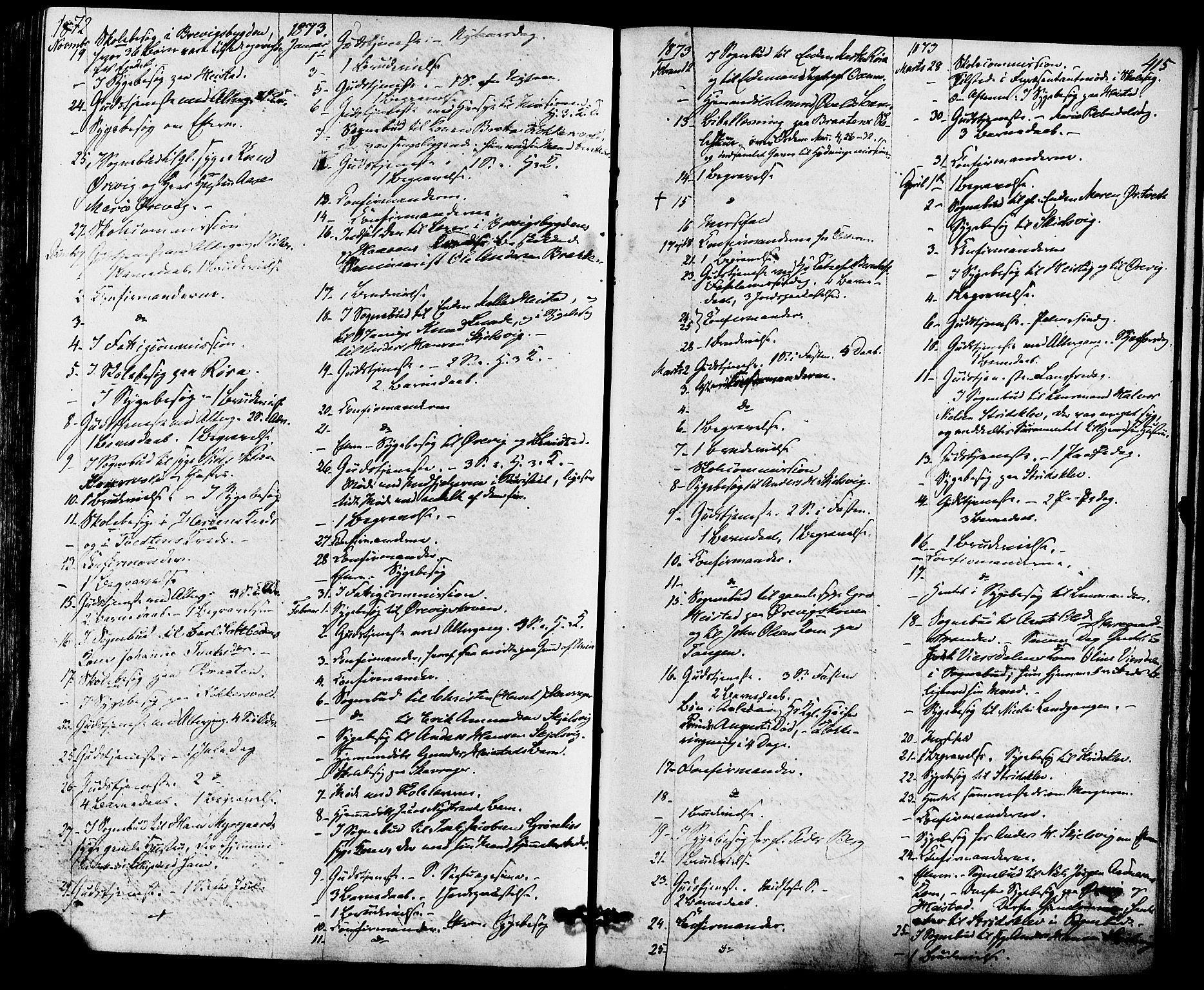 SAKO, Eidanger kirkebøker, F/Fa/L0010: Ministerialbok nr. 10, 1859-1874, s. 415