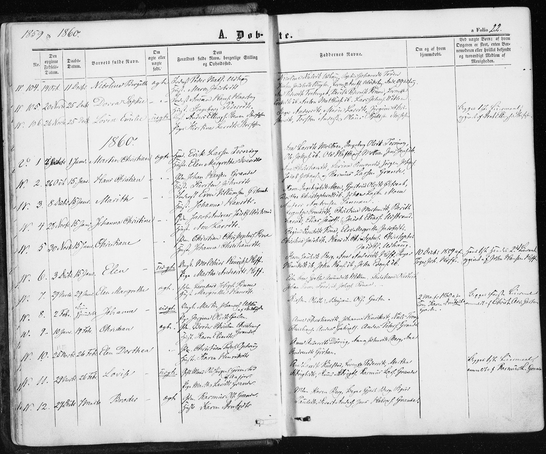 SAT, Ministerialprotokoller, klokkerbøker og fødselsregistre - Sør-Trøndelag, 659/L0737: Ministerialbok nr. 659A07, 1857-1875, s. 22