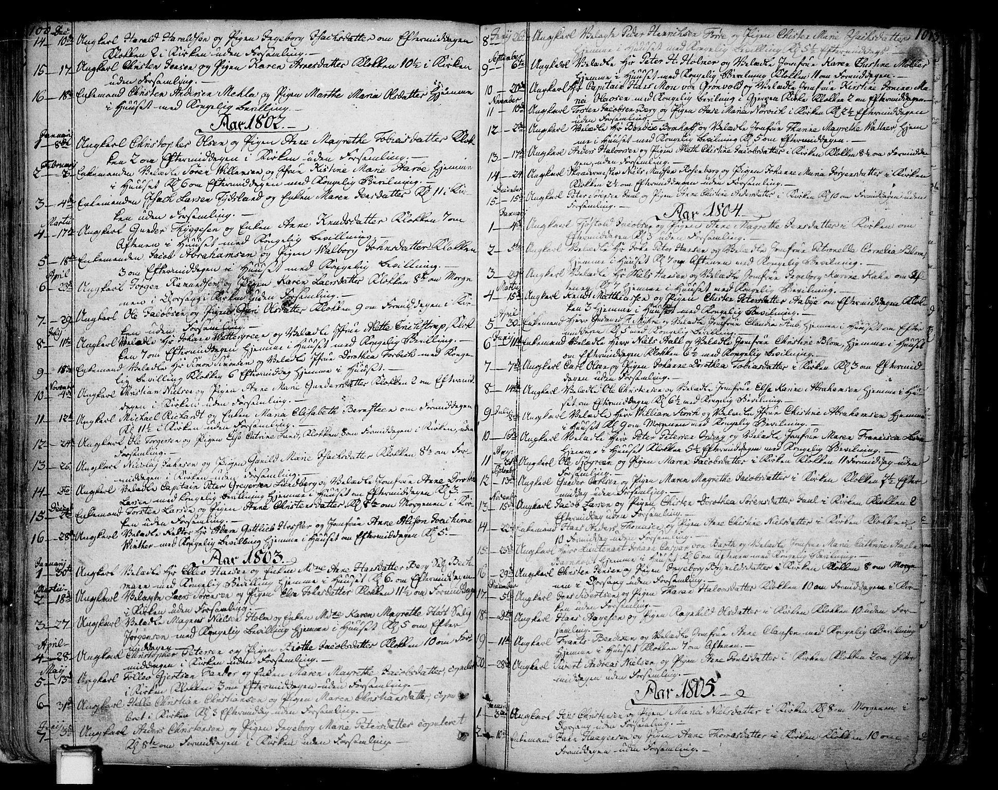 SAKO, Skien kirkebøker, F/Fa/L0004: Ministerialbok nr. 4, 1792-1814, s. 100-101